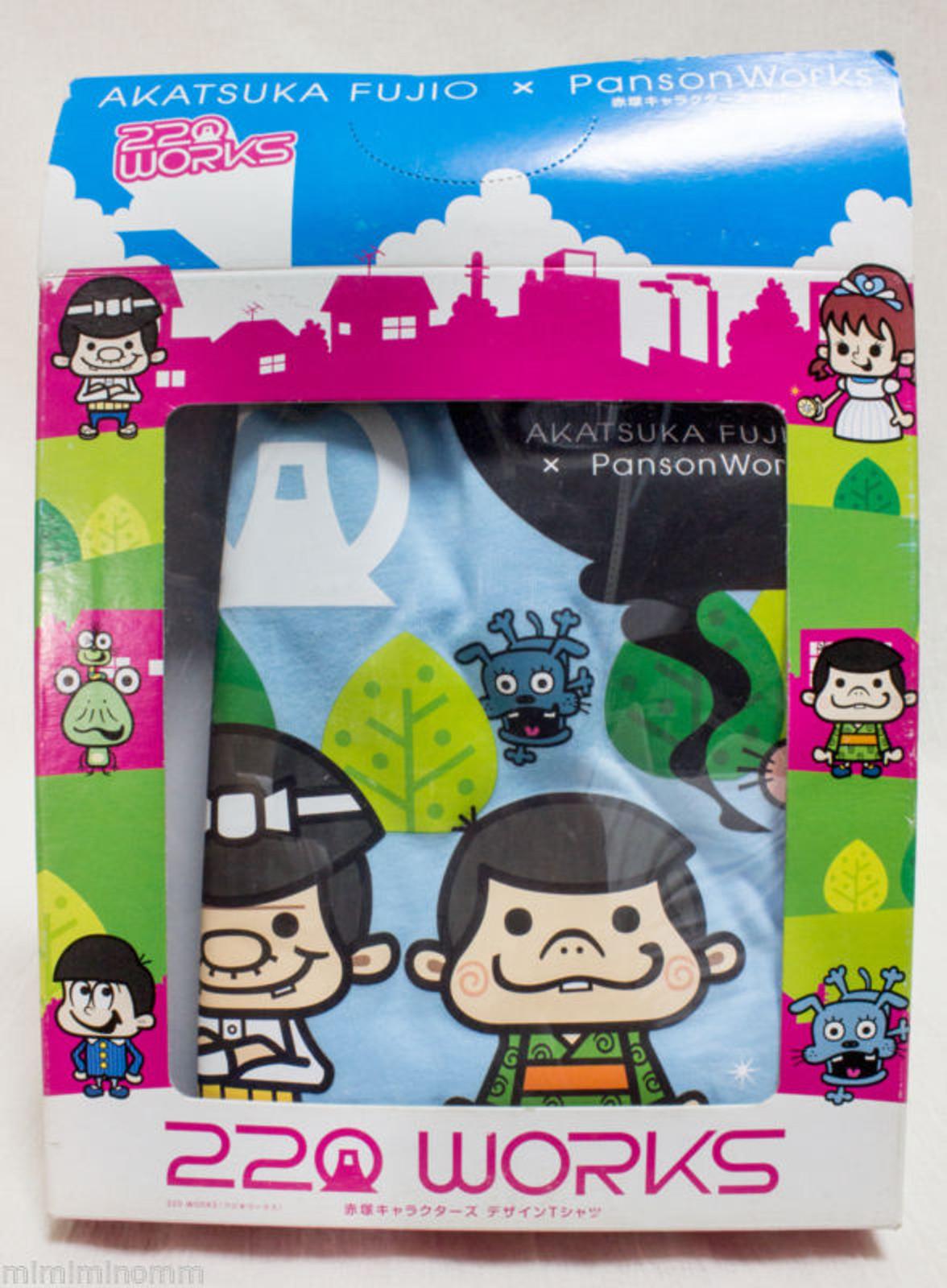 Akatsuka Fujio x Panson Works Tensai Bakabon T-shirt 220 Works JAPAN ANIME