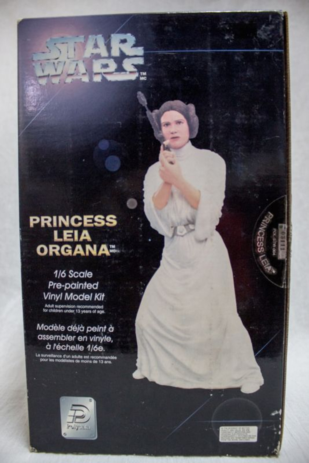 STAR WARS 1/6 scale pre-painted Vinyl Model Kit Princess Leia Organa Figure