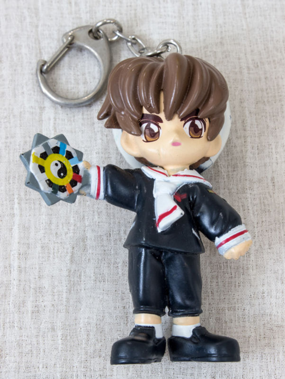 """Cardcaptor Sakura Syaoran Li Mascot Figure 3"""" Keychain CLAMP JAPAN ANIME"""