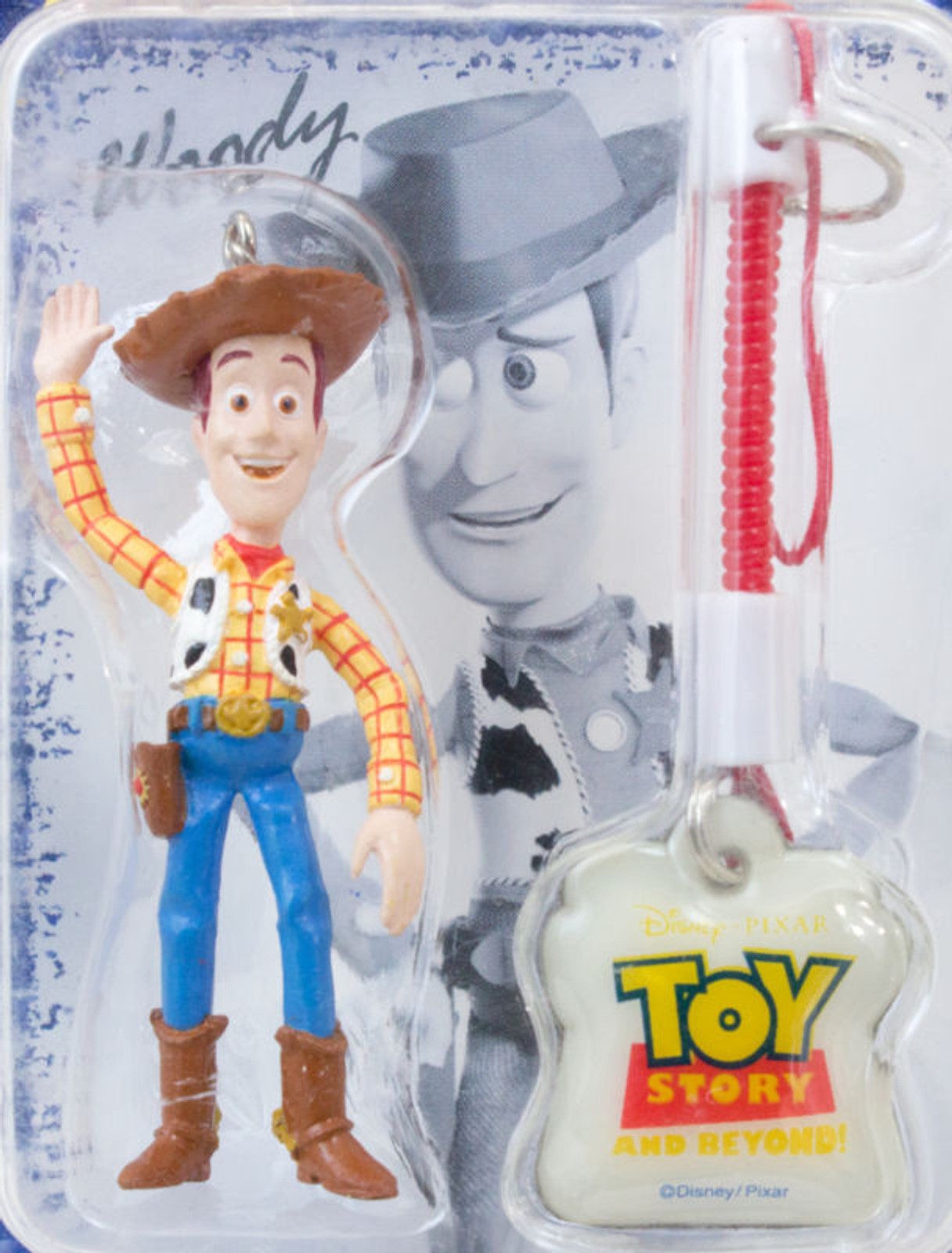 Disney Pixar Toy Story Woody Figure Mobile Cleaner Keychain RUN'A JAPAN