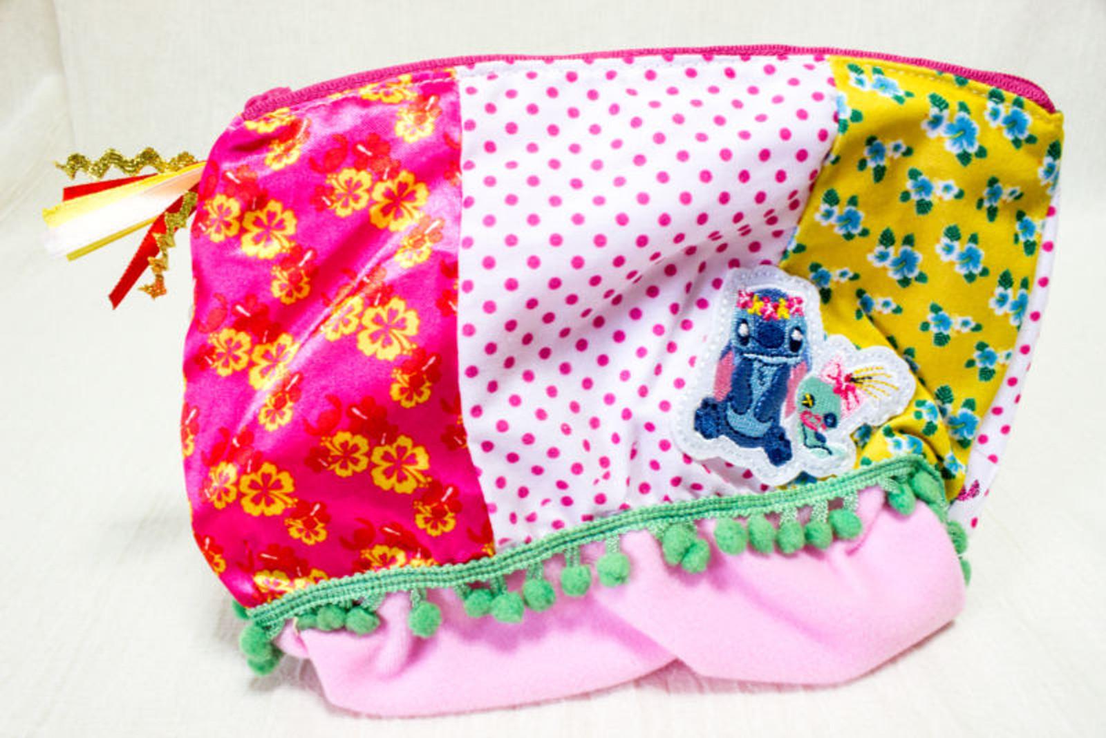 Disney Dear Stitch Pen Case Pouch Mini Bag Sun Star JAPAN ANIME