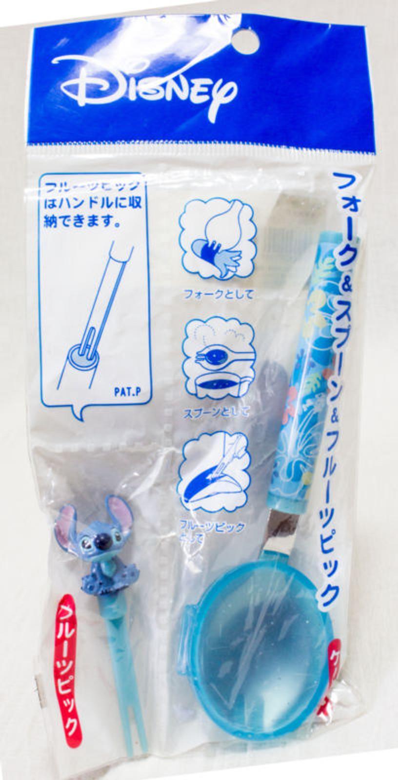 Disney Stitch Spork (Folk Spoon) & Fruits Pick JAPAN ANIME