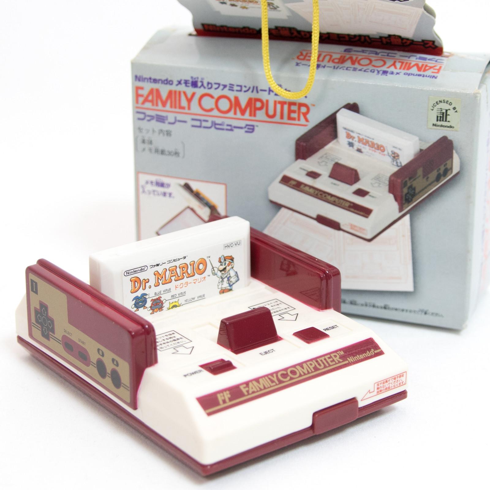 Dr. Mario Nintendo NES Famicom Family Computer Type Memo Paper Case JAPAN