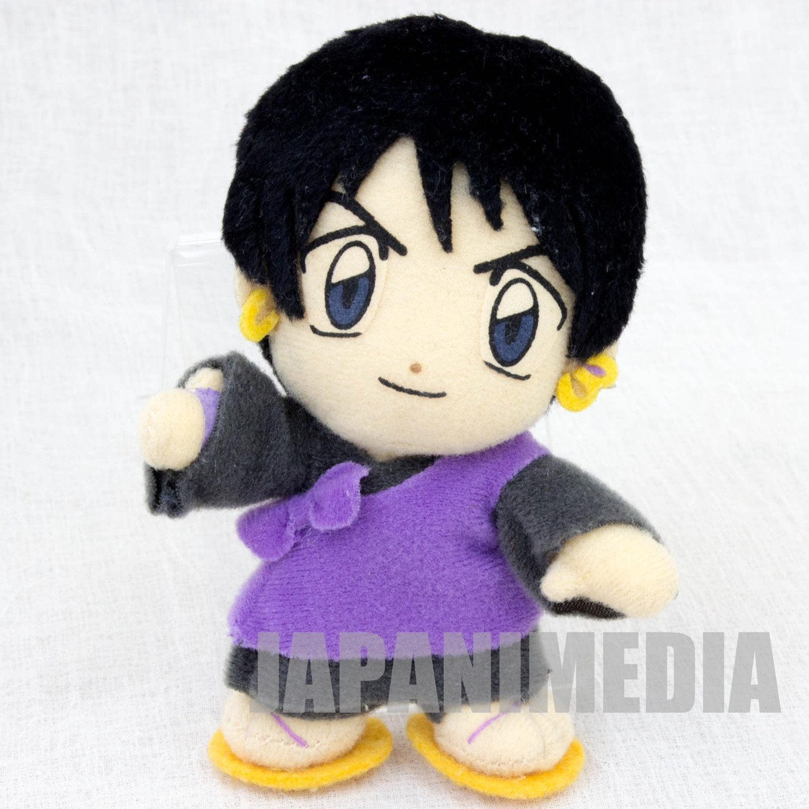"RARE!! InuYasha Miroku Inuyasha Friends 4"" Mini Plush Doll JAPAN ANIME MANGA [No box]"
