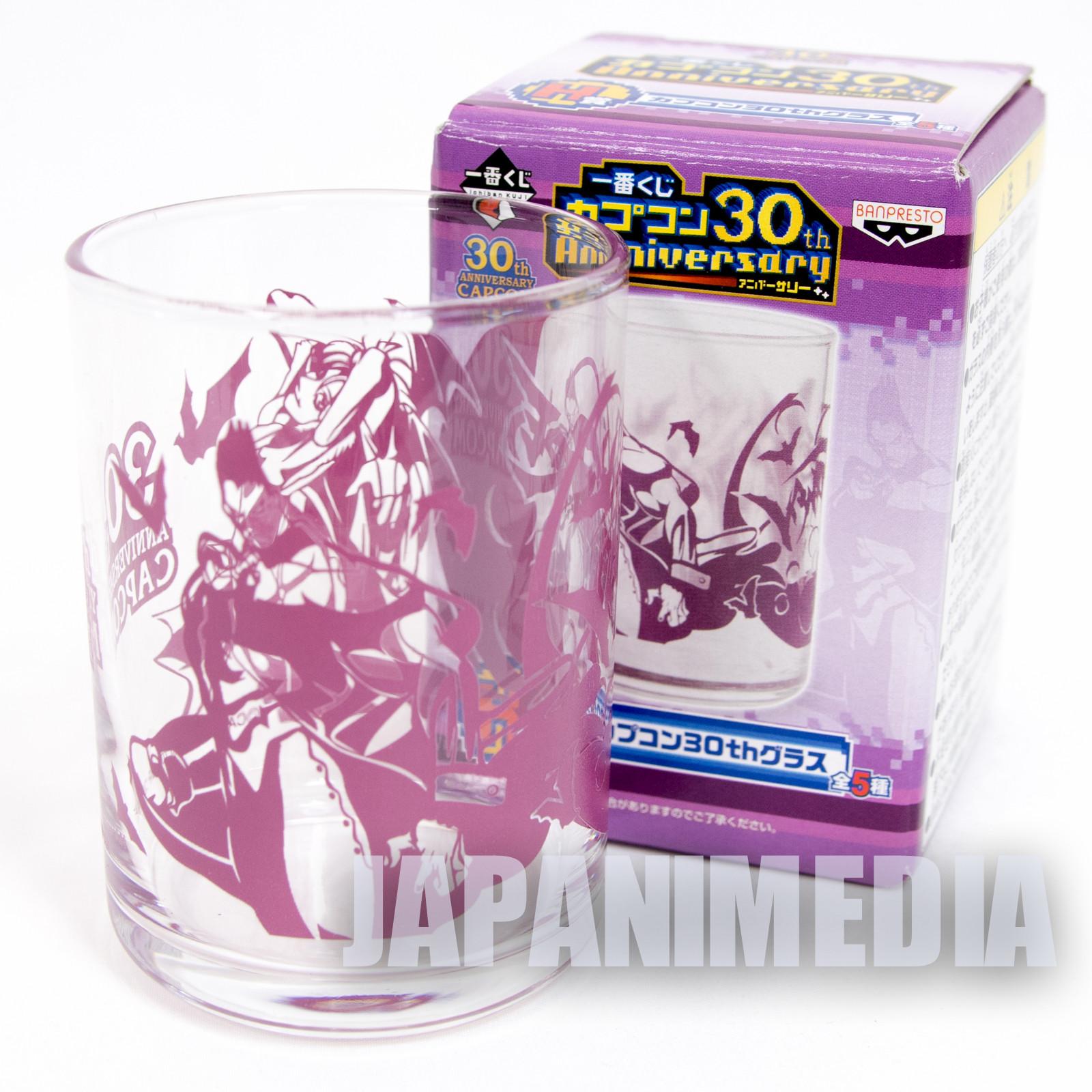 Darkstalkers (Vampire) Demitri Morrigan Ver. Capcom 30th Anniversary Glass JAPAN GAME