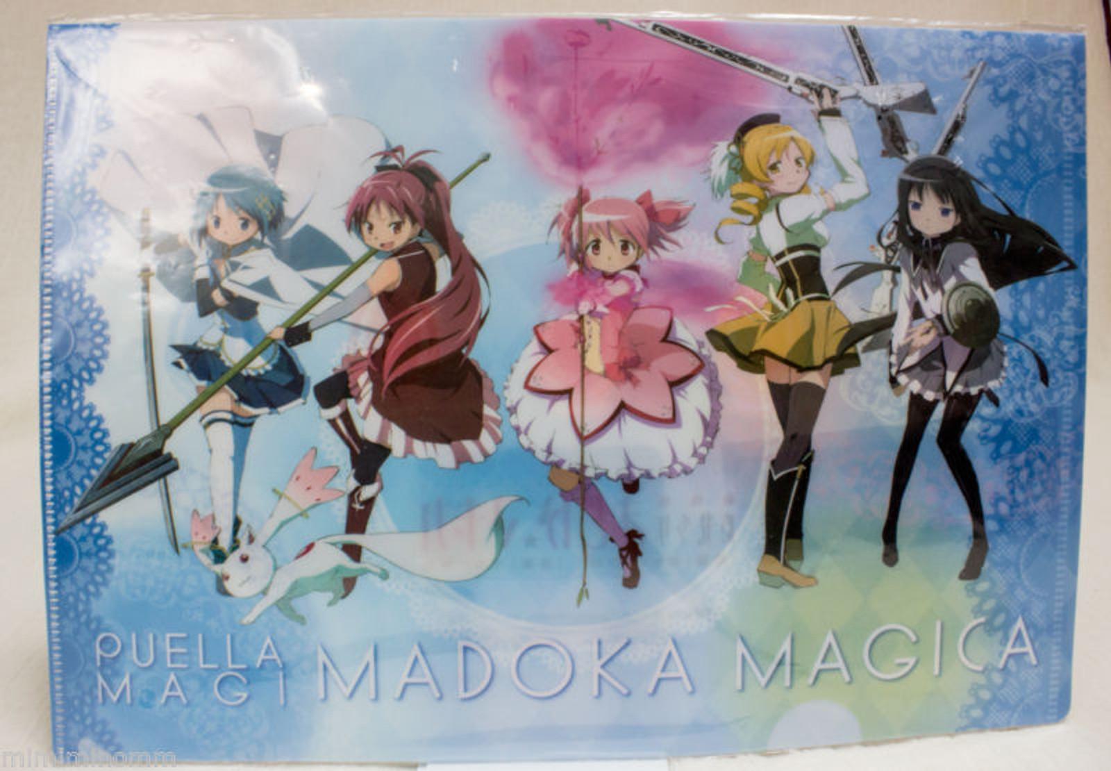 Puella Magi Madoka Magica Clear holder File Lawson Limited JAPAN ANIME MANGA