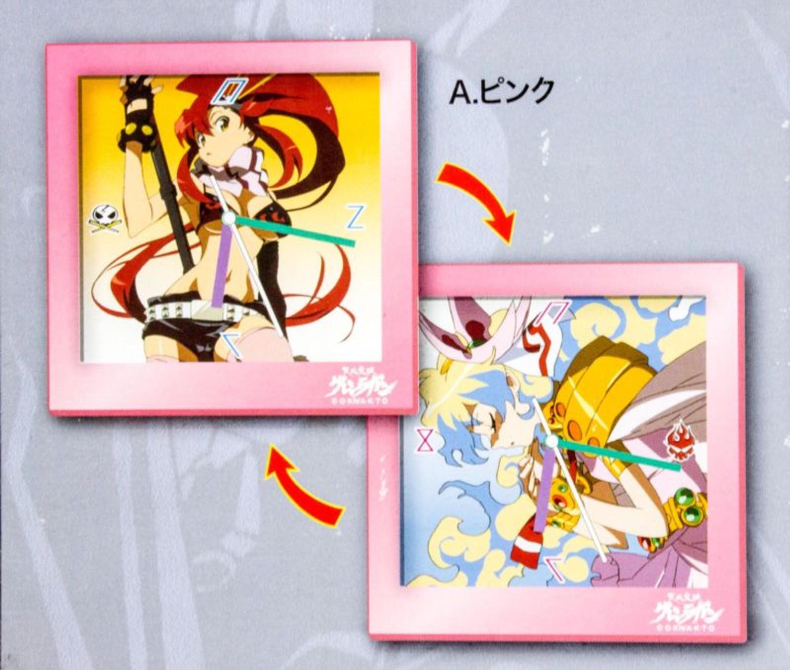 Gurren Lagann Change Clock Yoko & Nia Pink Ver. JAPAN ANIME MANGA