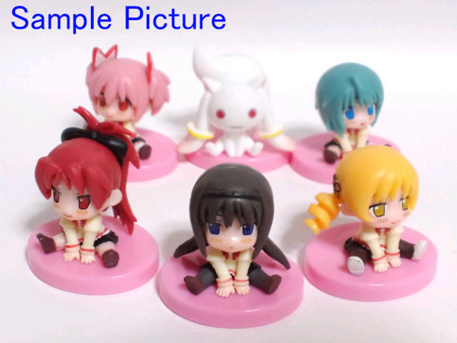 Set of 6 Puella Magi madoka Magica Mini Figure Lawson Limited JAPAN ANIME