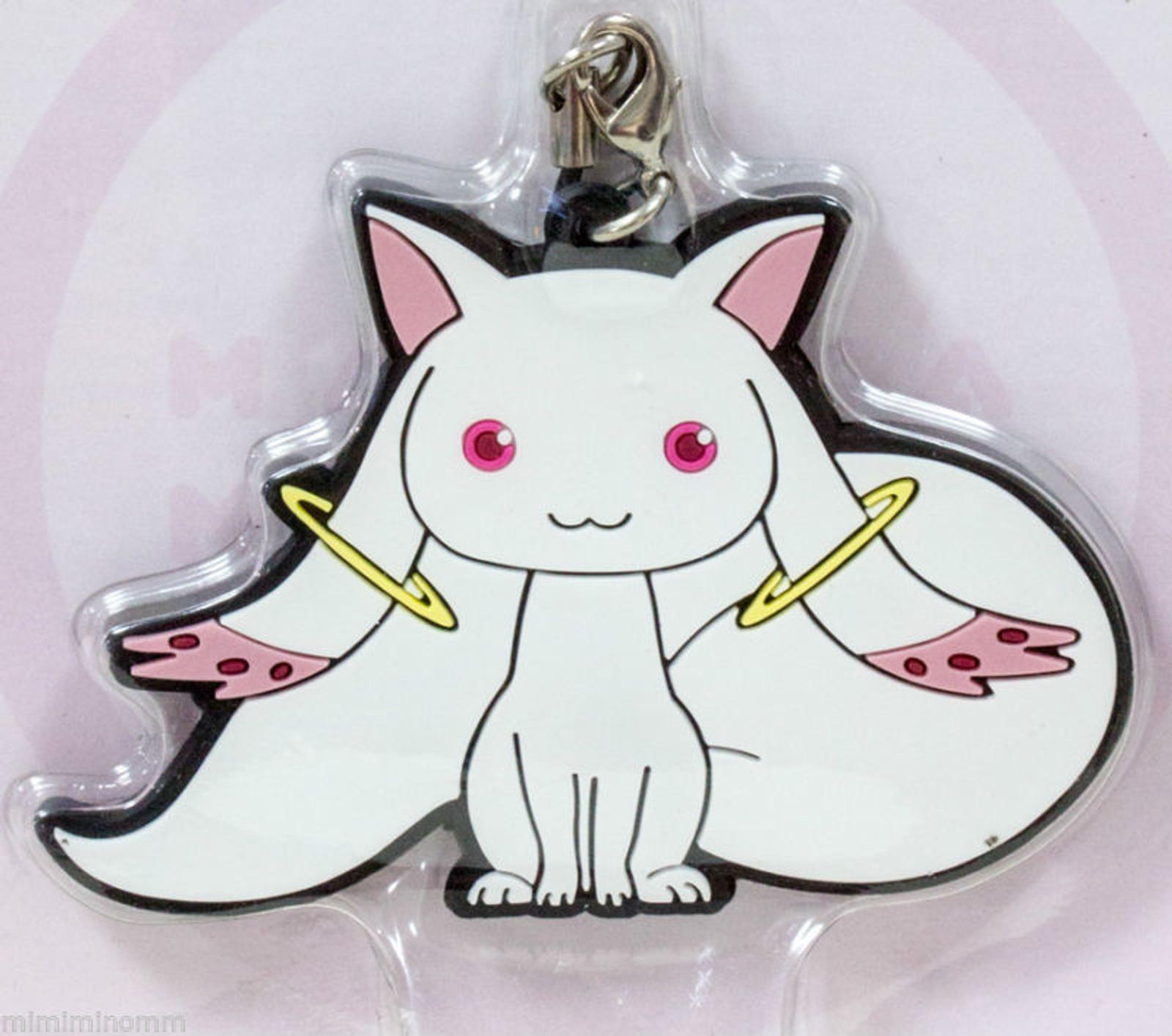 Puella Magi Madoka Magica Kyubey Rubber Strap JAPAN ANIME MANGA CAT
