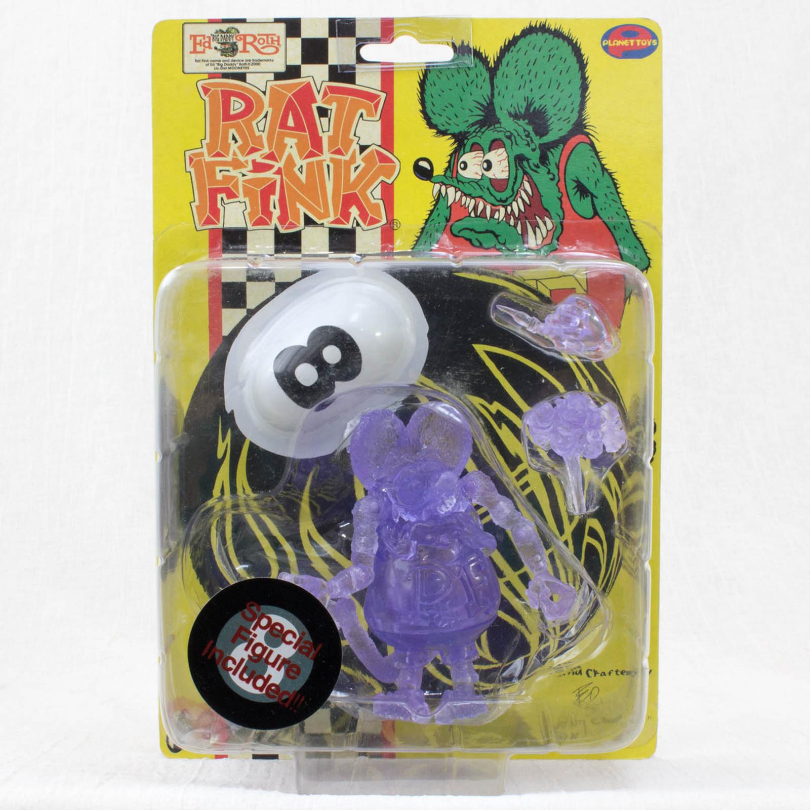 RAT FINK Action Figure Series Clear Ver. Planet Toys Art Storm 1998 JAPAN