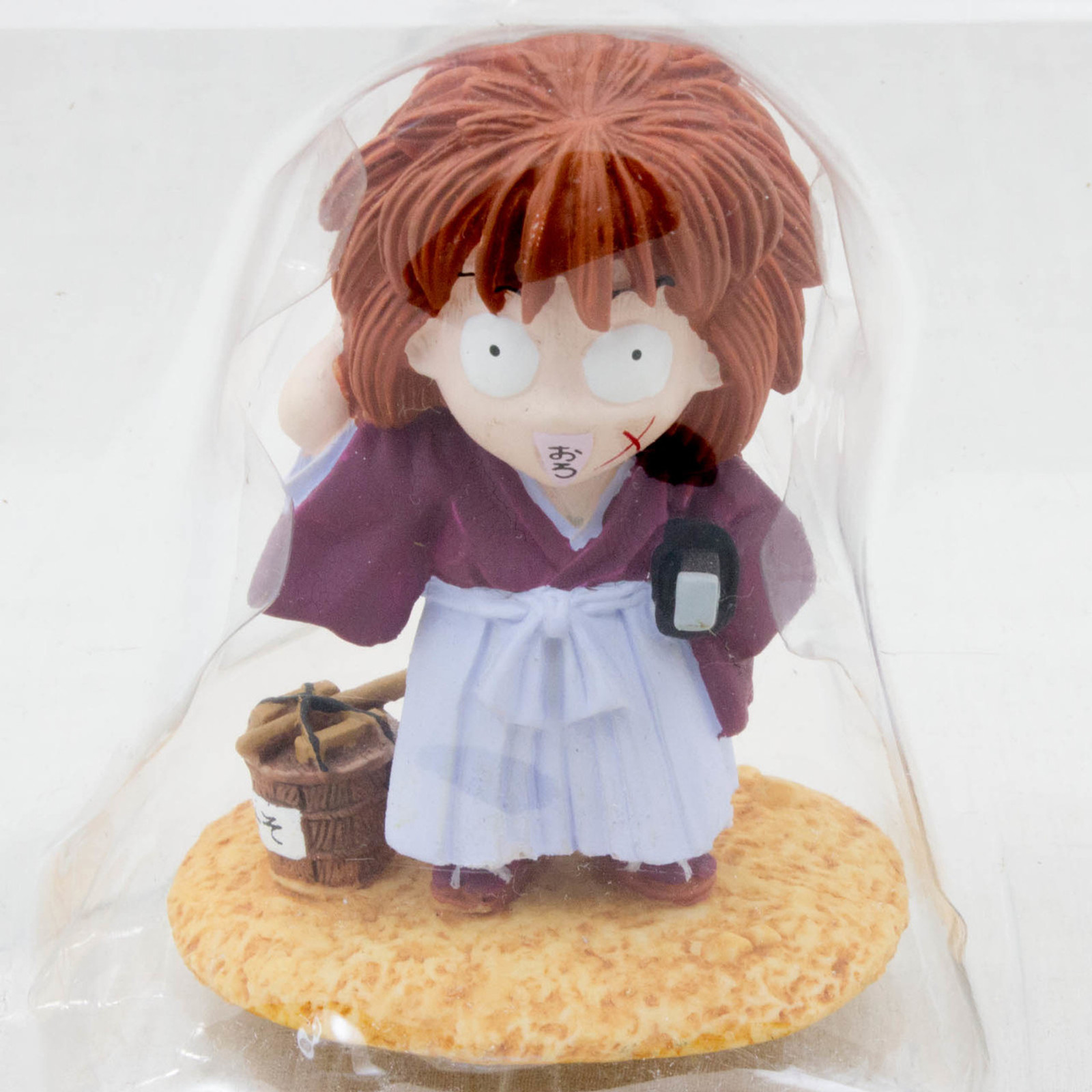 Rurouni Kenshin Himura Ceramic Figure Surprising Face JAPAN ANIME MANGA