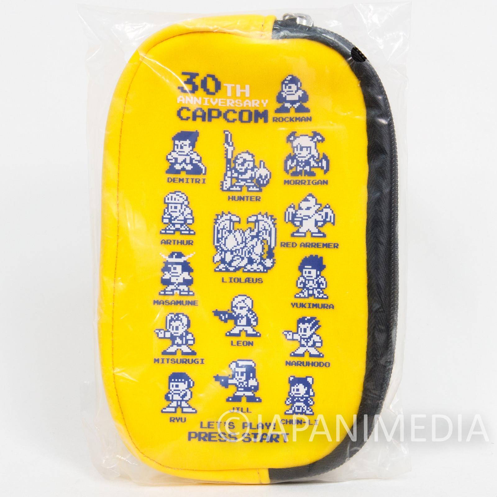 Capcom Character Design 30th Mini Pouch Case Rockman Morrigan JAPAN ANIME GAME