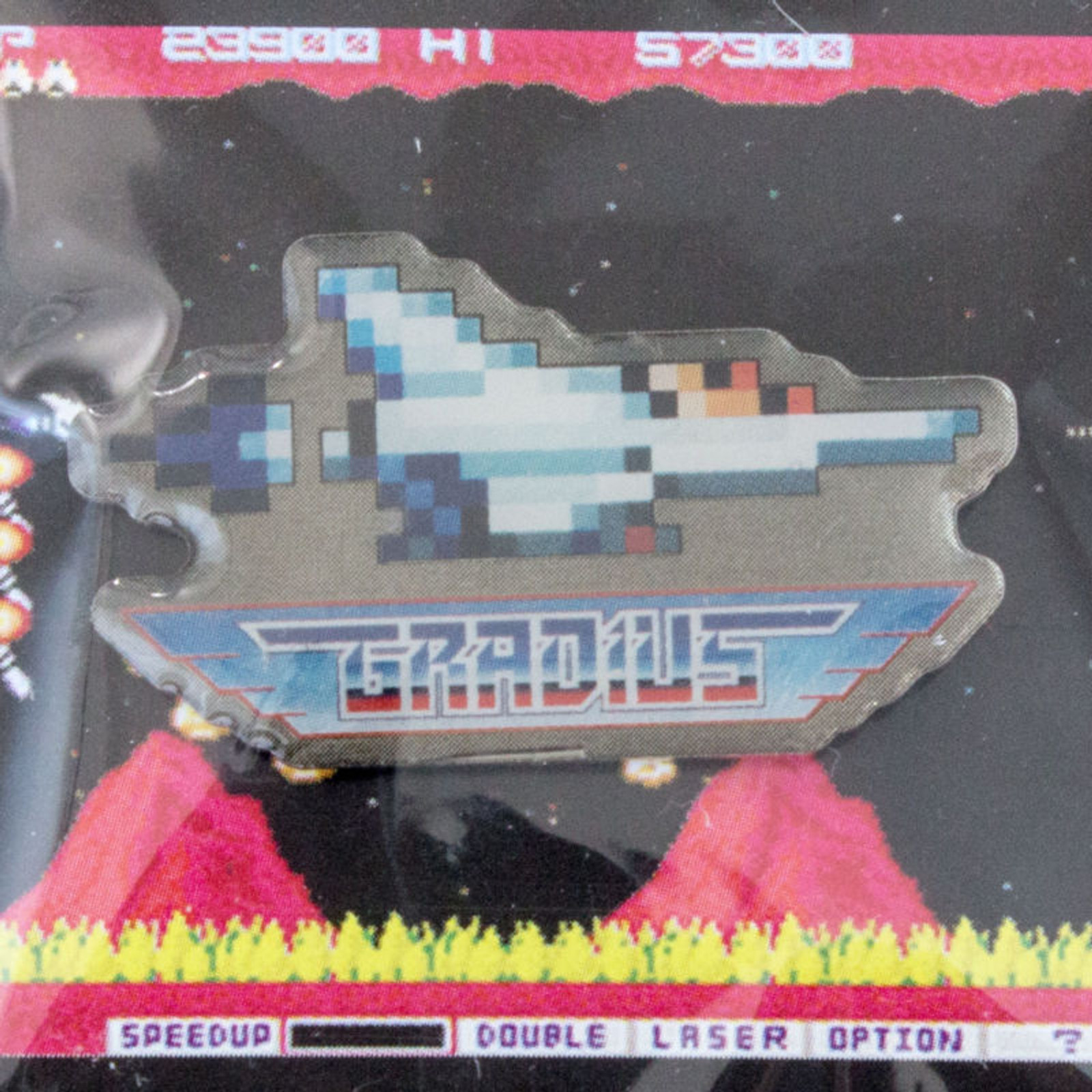 RARE!! Gradius Nemesis VIC VIPER Pins Badge Konami JAPAN GAME