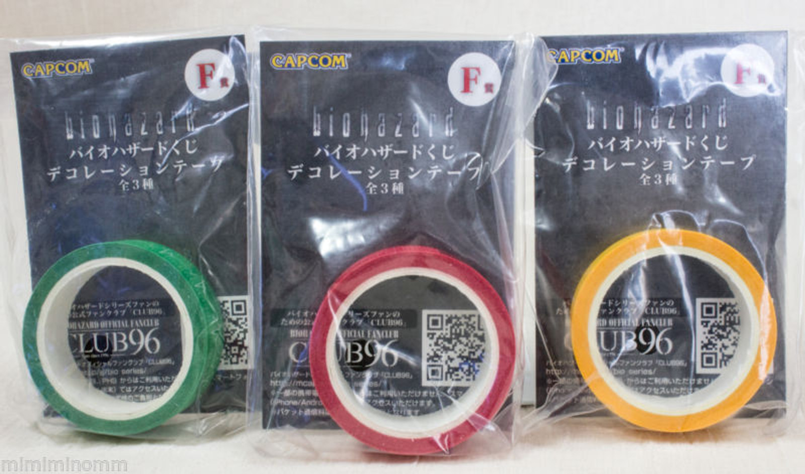 [Set of 3 colors] RESIDENT EVIL Biohazard Decoration Tape Capcom JAPAN GAME RESIDENT EVIL