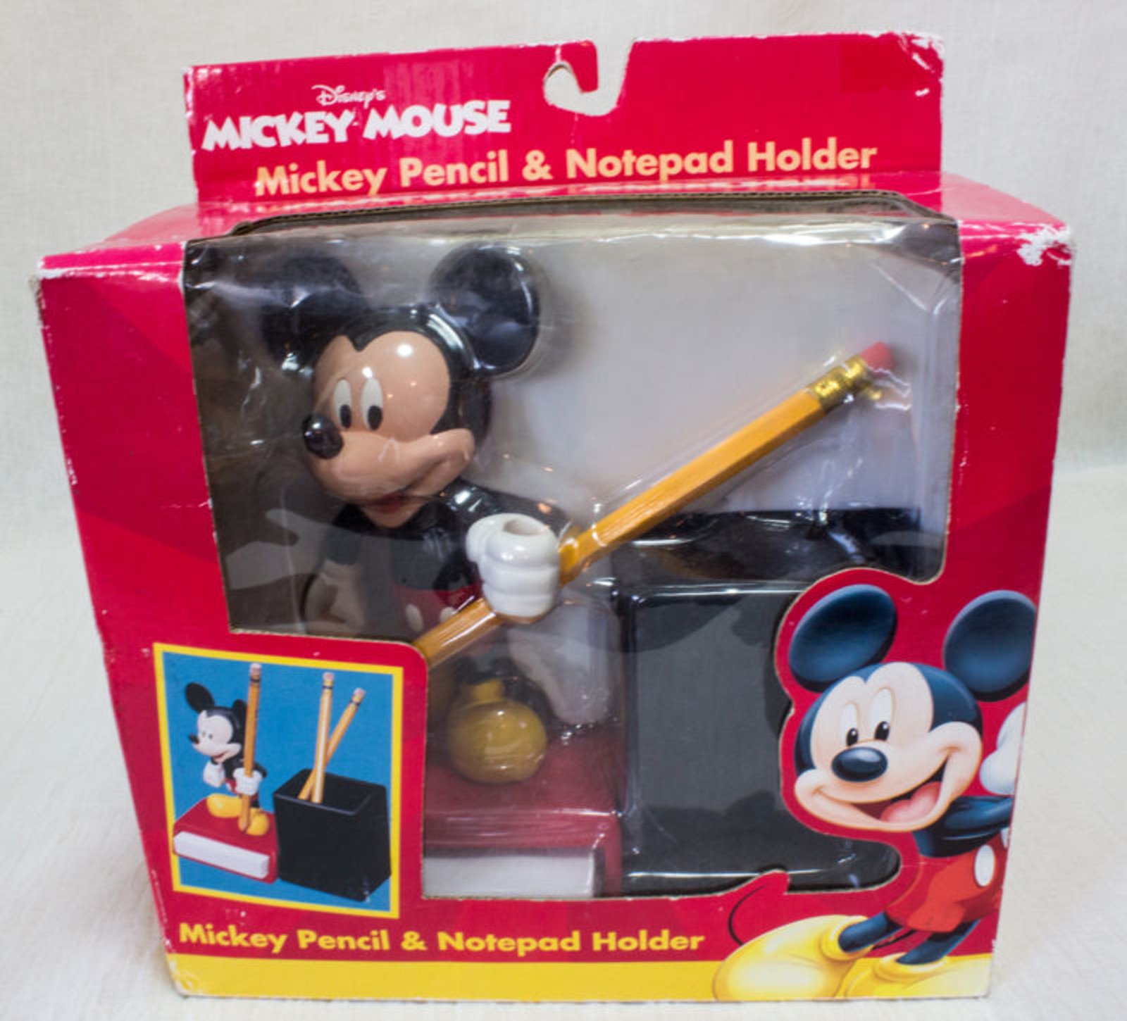 Disney Mickey Mouse Figure Pencil & Notepad Holder Monogram