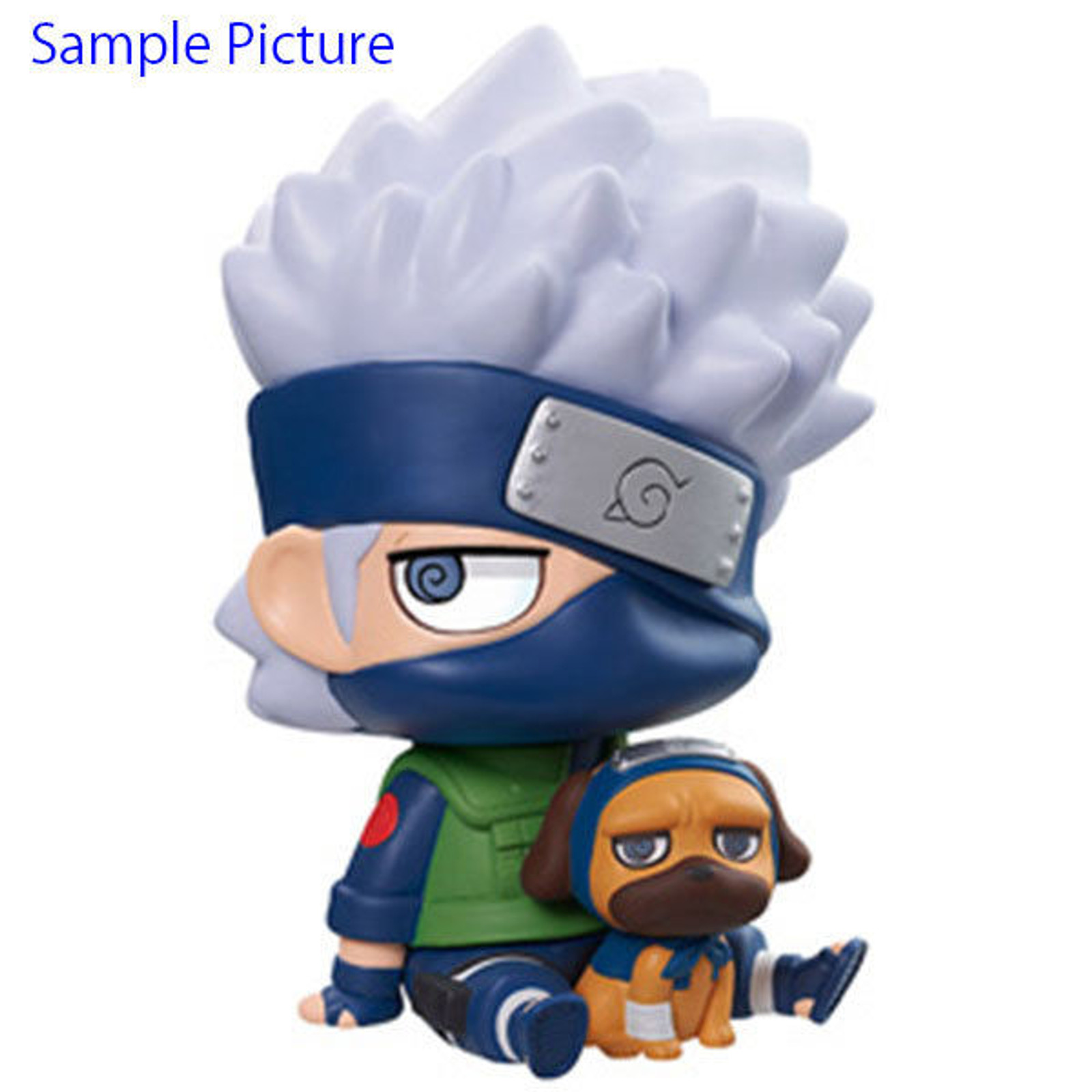 NARUTO Kakashi Hatake & Packun Chimi Mega Soft Vinyl Series Figure Megahouse JAPAN ANIME
