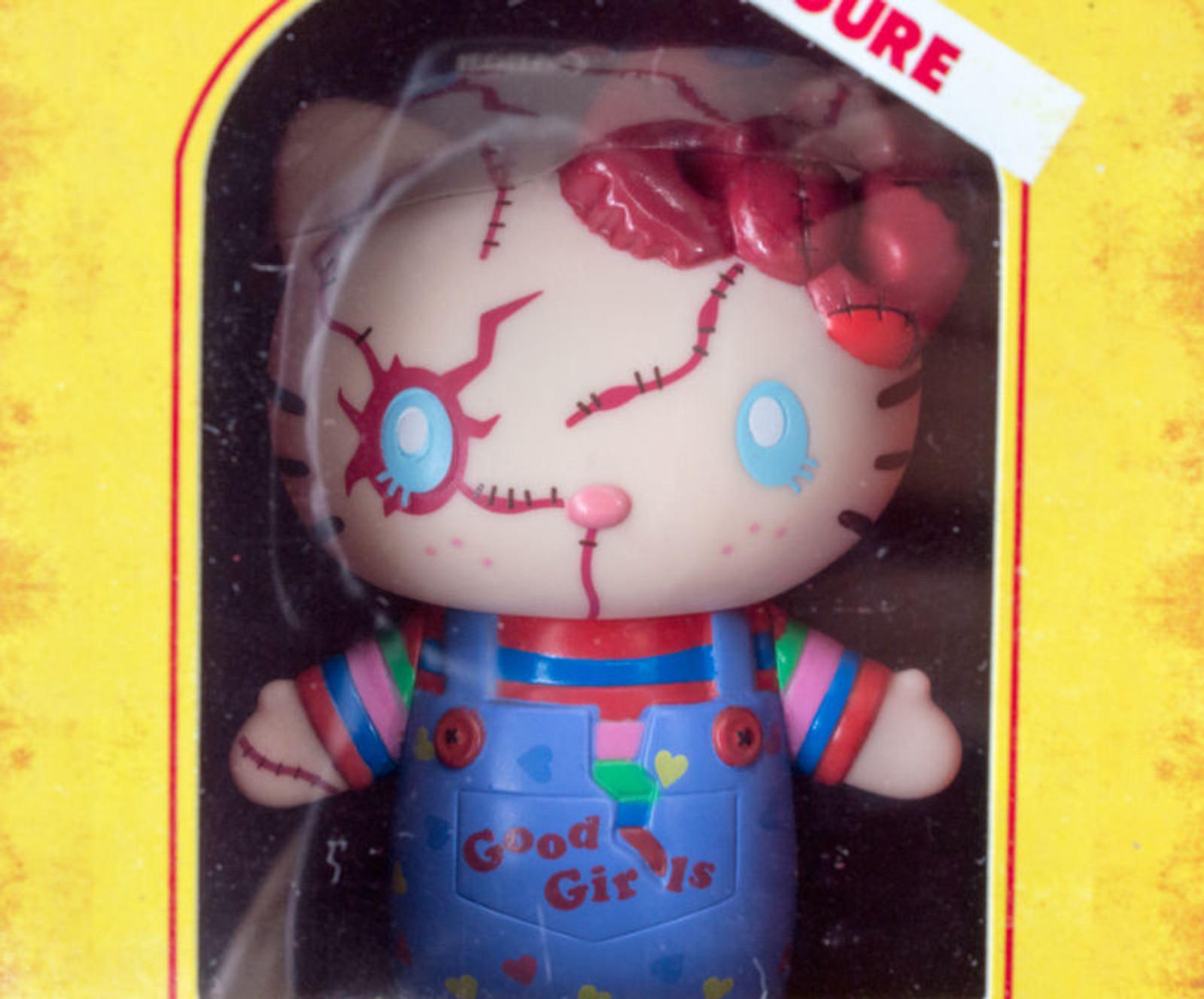 "Hello Kitty x Chucky Child's Play 2 Mini 3"" Figure Sanrio USJ JAPAN Limited"