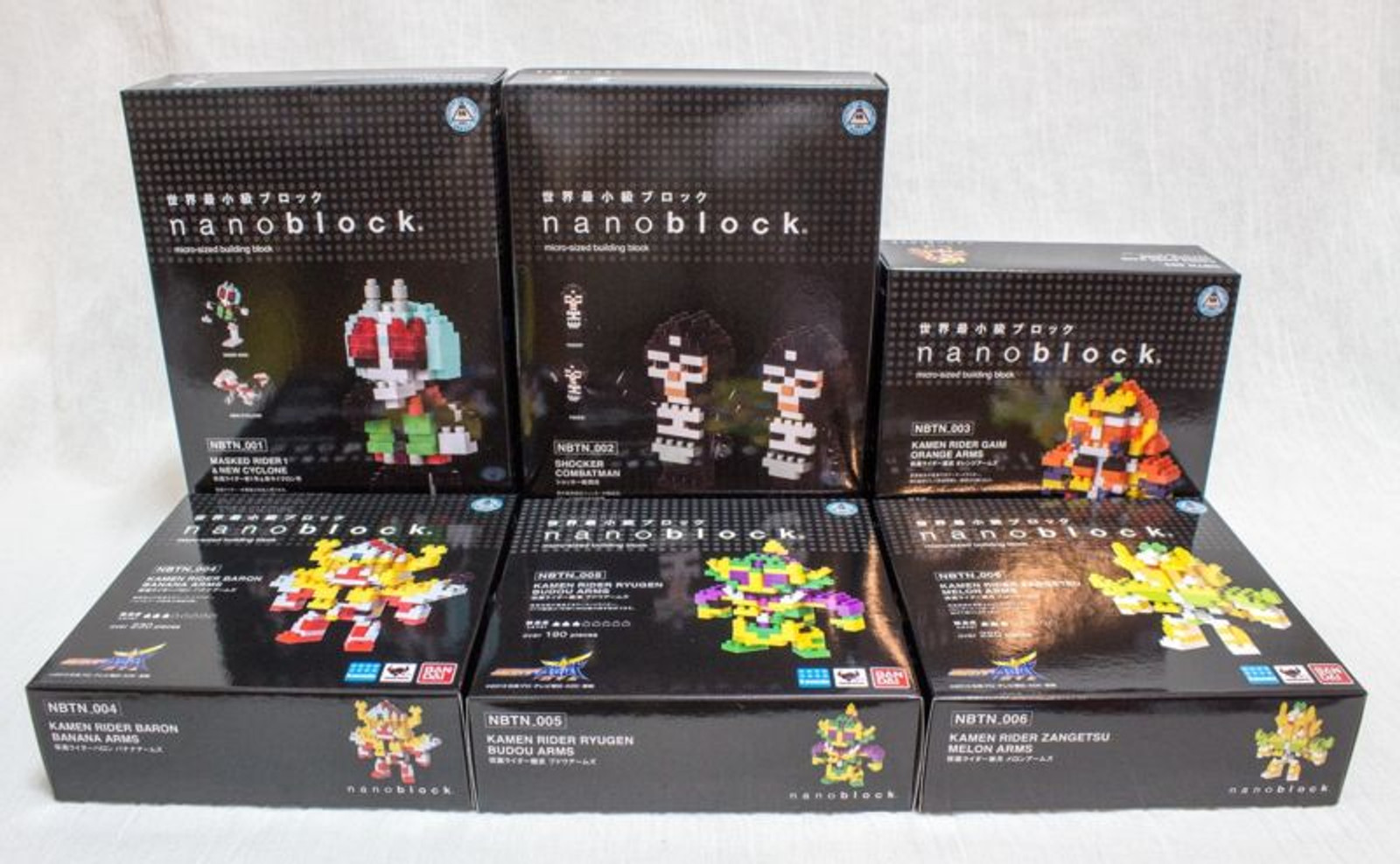 Set of 6 Kamen Rider Kawada Nanoblock Nano Block NBTN-001-6 JAPAN Figure