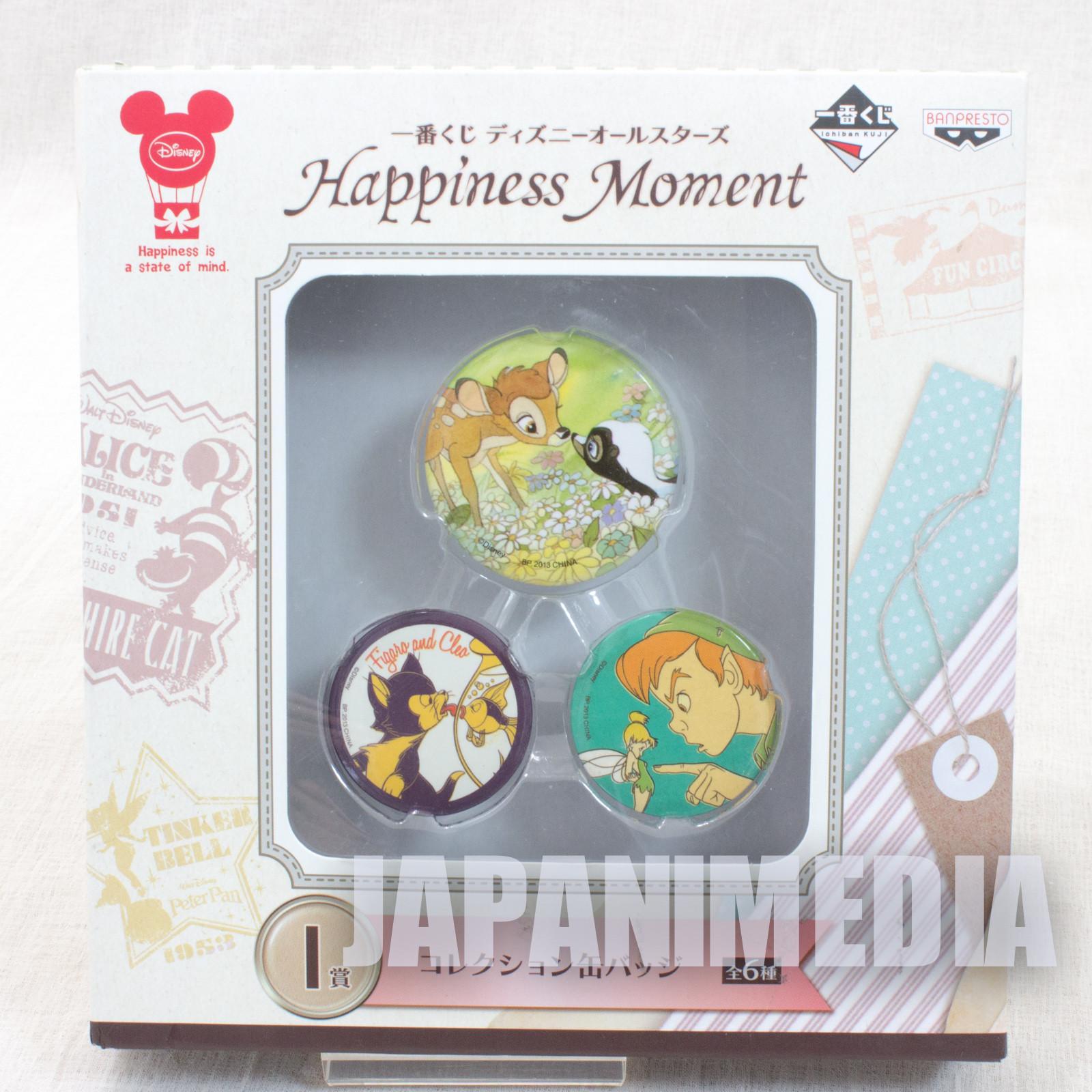 Disney Bambi All Stars Collection Button badge set Ichiban Kuji Banpresto JAPAN