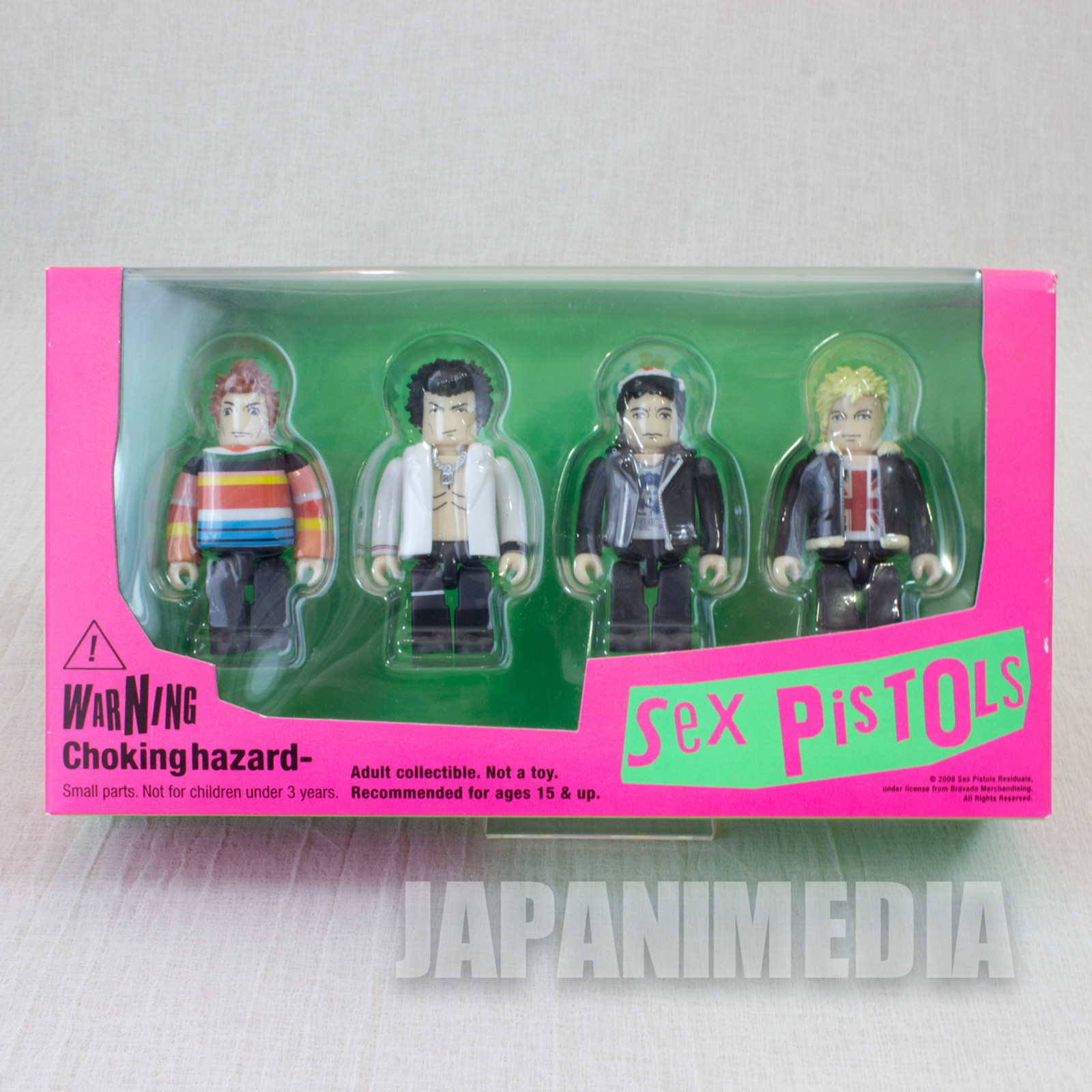 SEX PISTOLS Kubrick figure set Johnny Rotten Sid Vicious Medicom Toy JAPAN 2