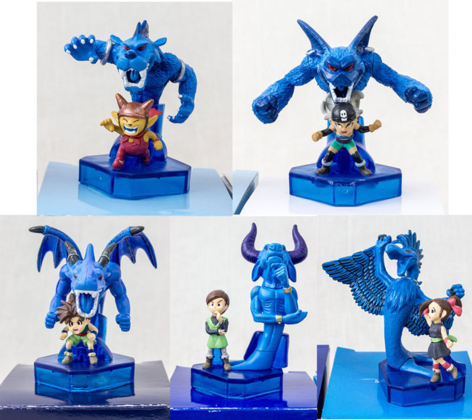 [Set of 5] Blue Dragon Original Mini Figure Akira Toriyama JAPAN GAME X-BOX