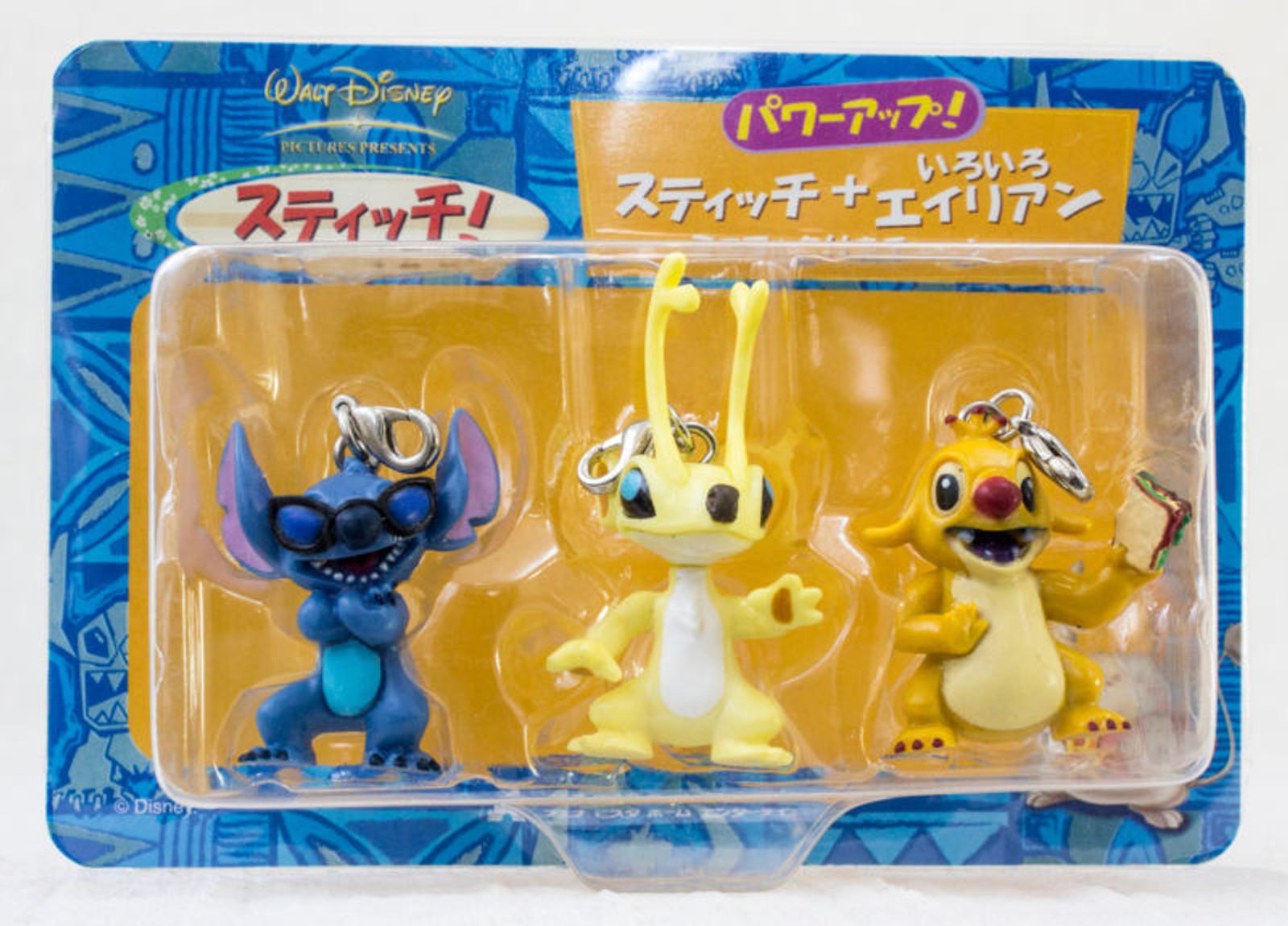 Disney Lilo & Stitch & Aliens Figure Charm w/hook Set JAPAN ANIME