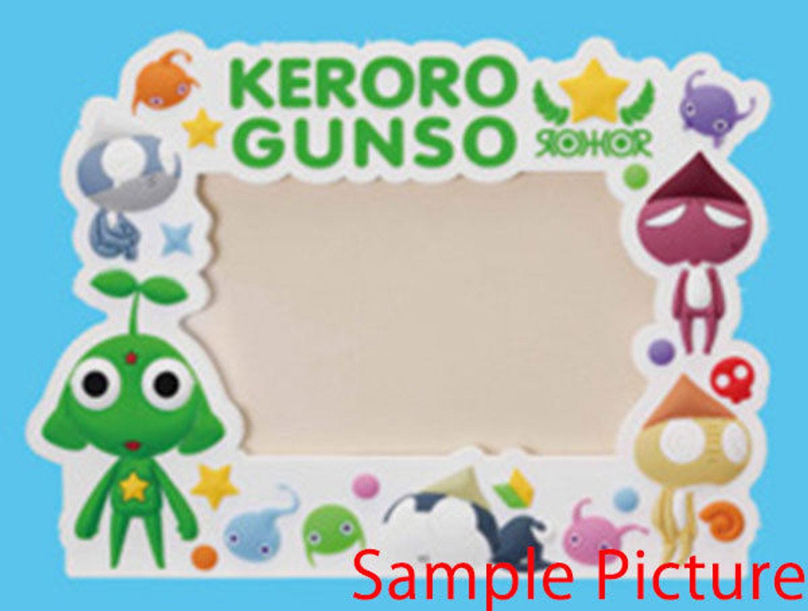 Sgt. Frog Keroro Gunso Sergeant Photo Frame Stand JAPAN ANIME MANGA FROG