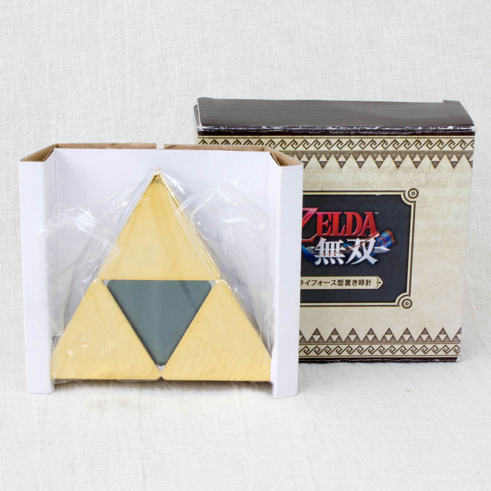 RARE! Zelda Muso Hyrule Warriors Tri-Force Type Alarm Clock JAPAN KOEI NINTENDO