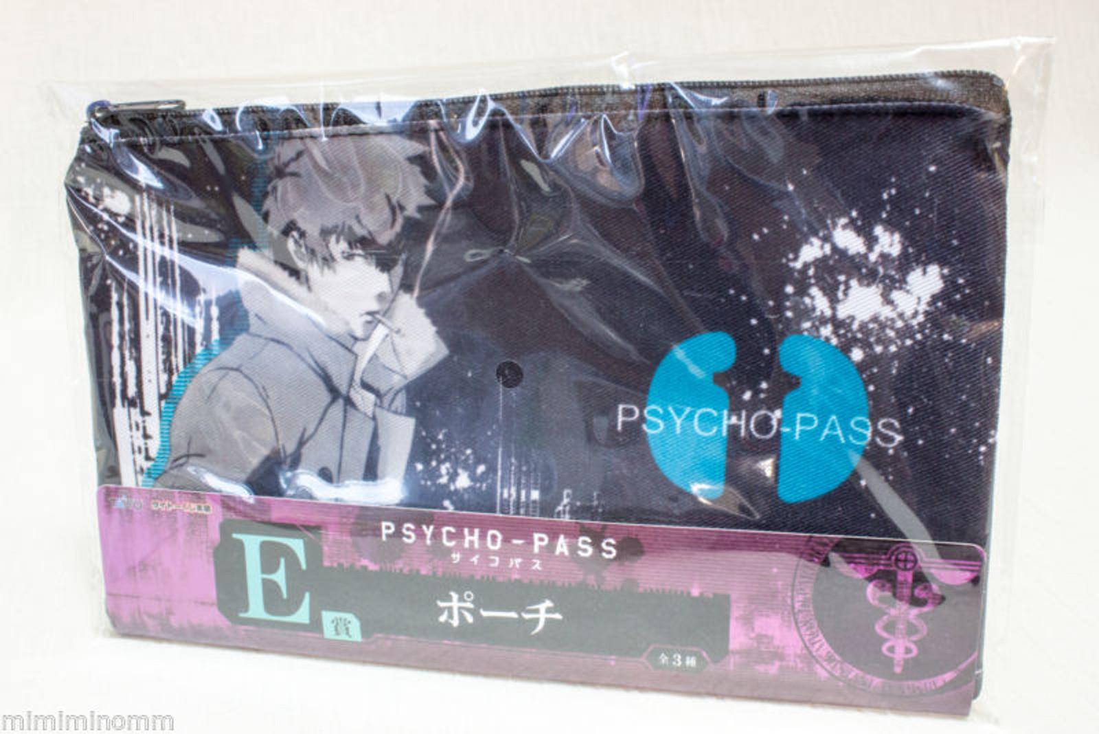 Psycho-Pass Shinya Kogami Shogo Makishima Pouch Mini Bag Taito Kuji JAPAN ANIME