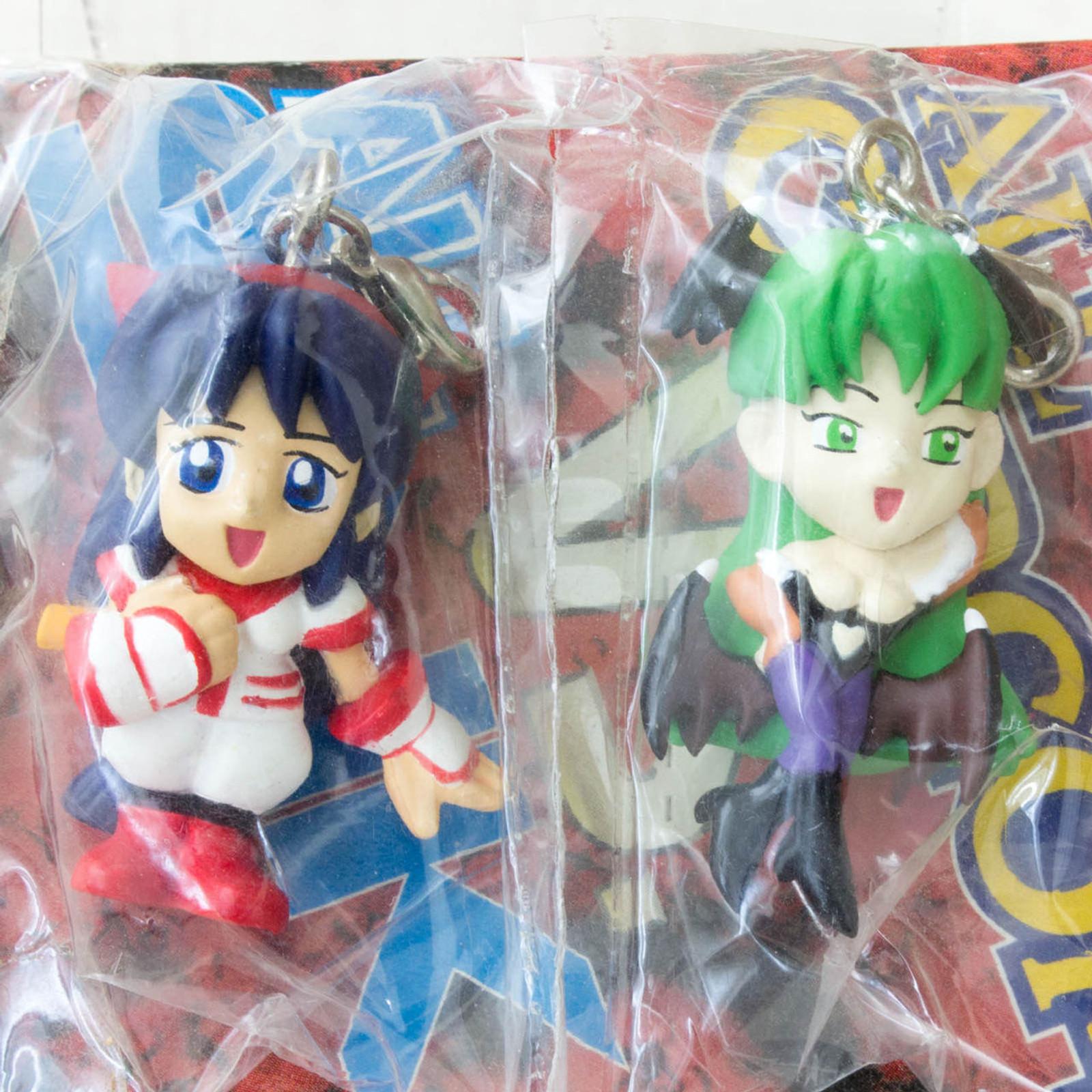 ALL CAPCOM vs ALL SNK Morrigan & Nakoruru Figure Mascot Darkstalkers (Vampire) Samurai Shodown JAPAN