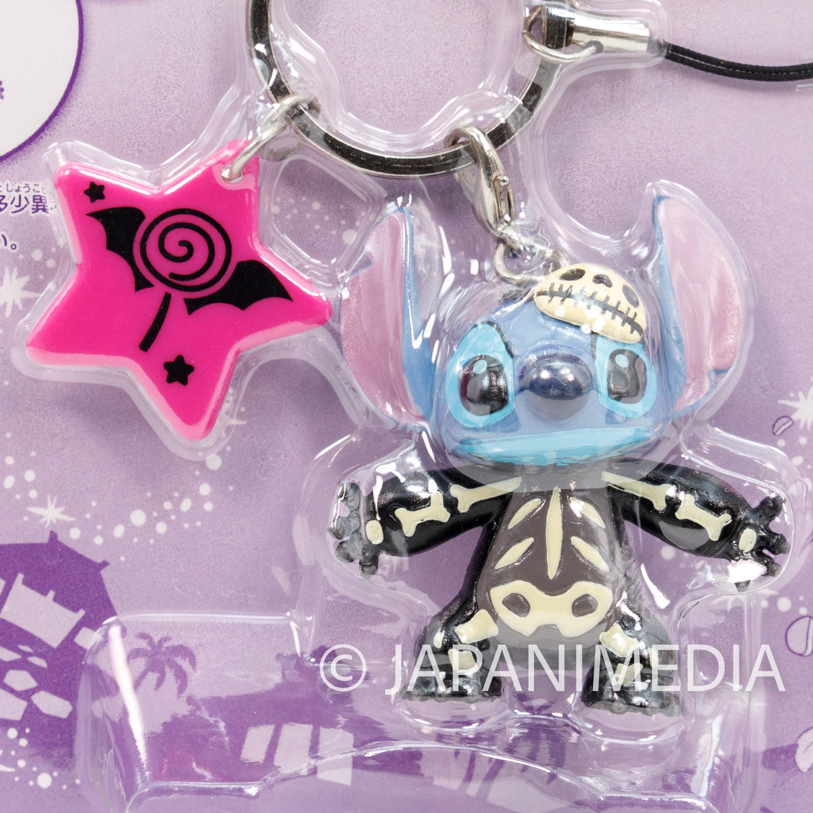 Disney Stitch Strap Halloween Skeleton Ver. Mascot Figure Banpresto JAPAN ANIME