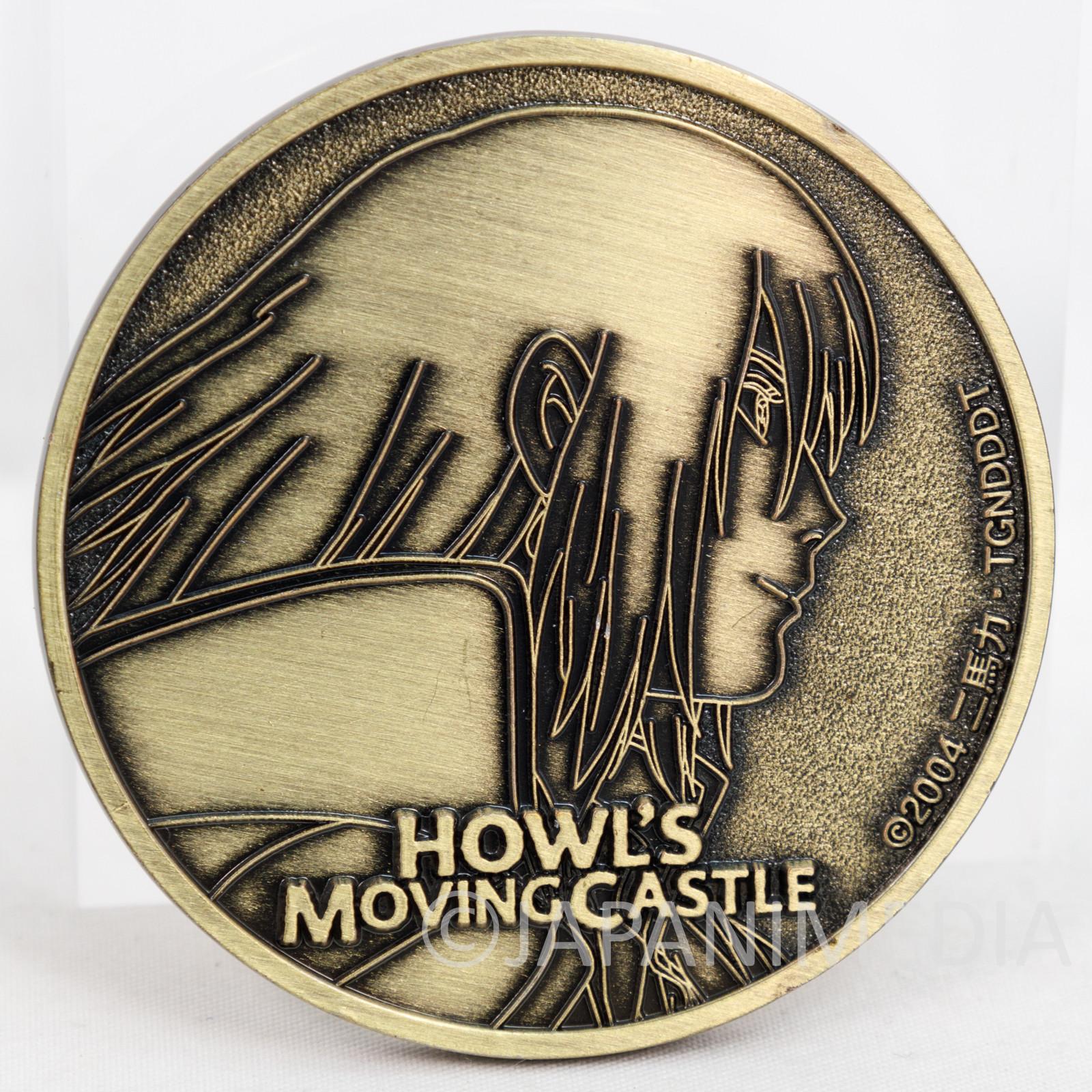 Howl's Moving Castle Relief Medal 2004 Ghibli Hayao Miyazaki JAPAN ANIME MANGA