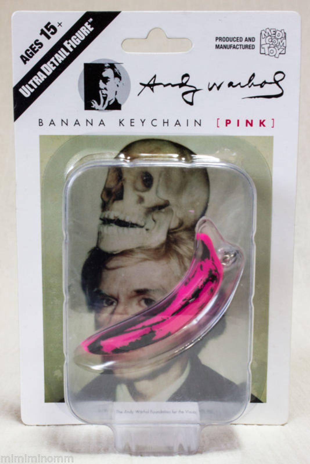 Andy Warhol Banana Keychain Pink Ver. Ultra Detail Figure Medicom Toy JAPAN