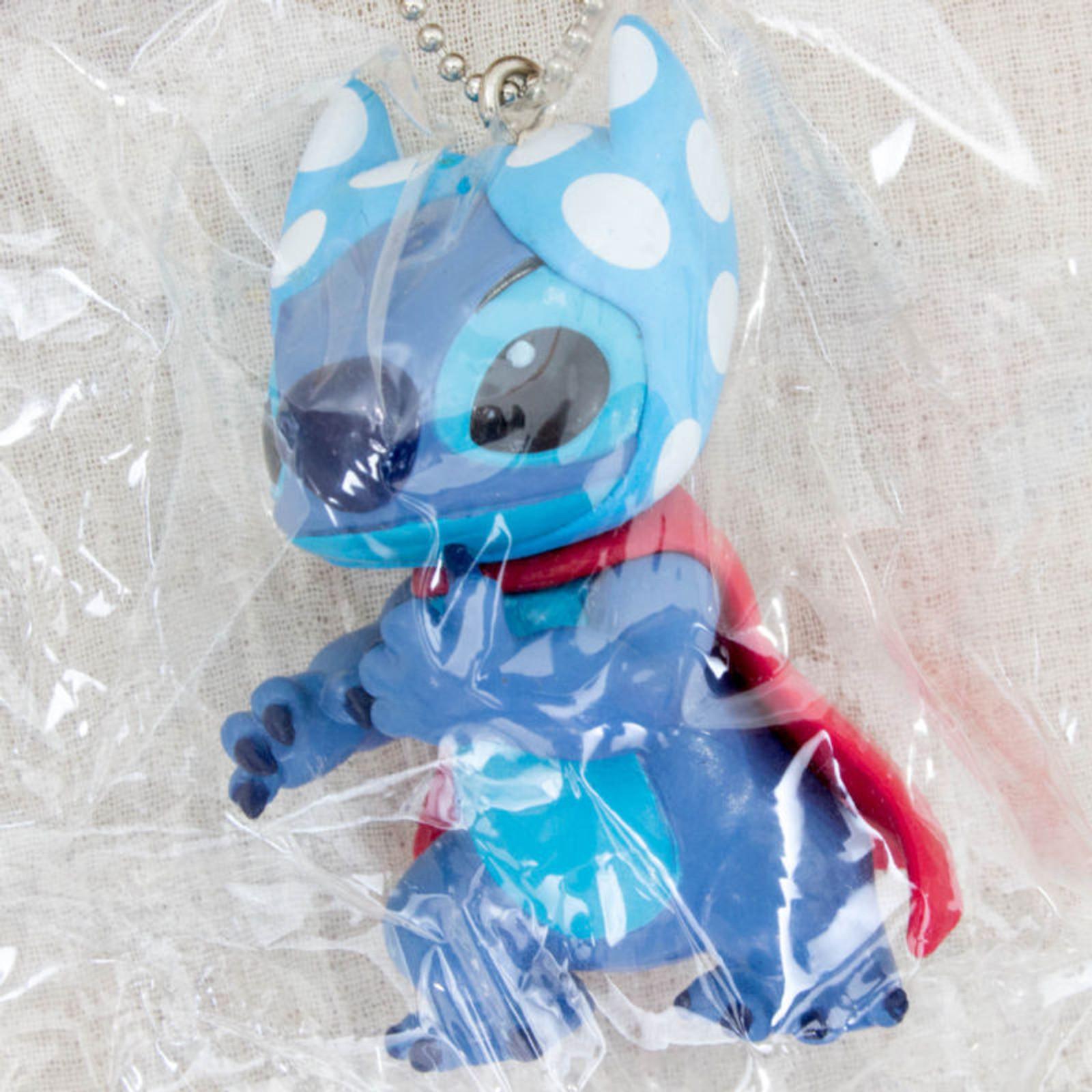 Disney Stitch with Scarf Mascot Figure Strap SEGA JAPAN ANIME