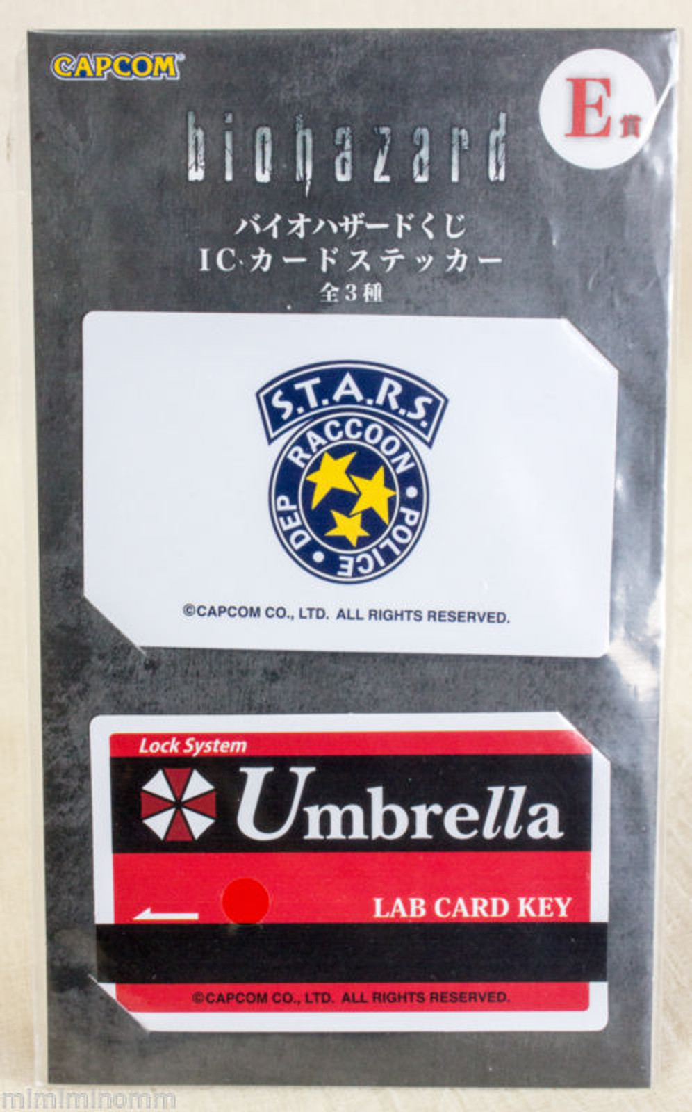 RESIDENT EVIL Biohazard Card Type Sticker Set Capcom 1 JAPAN GAME