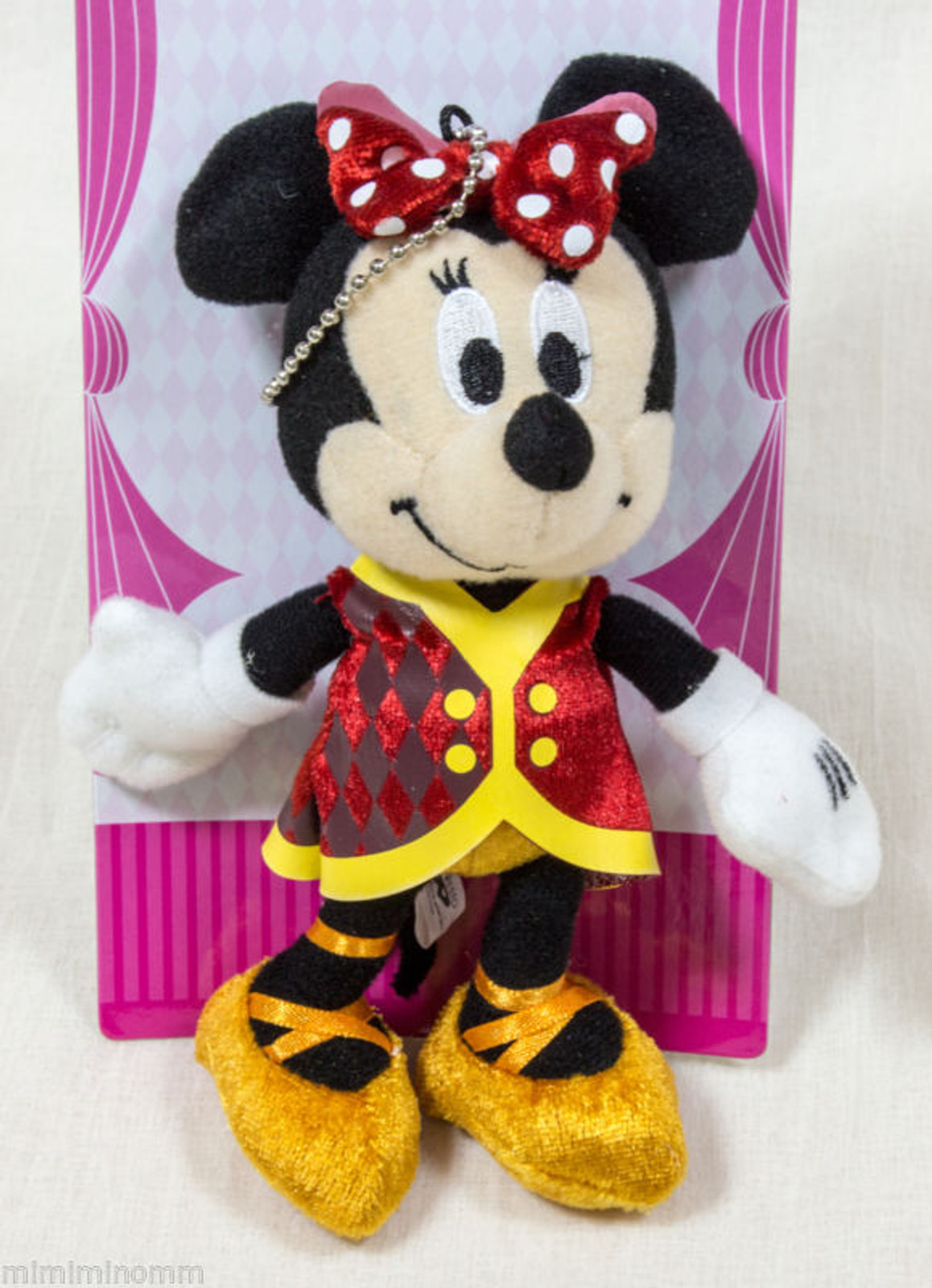 "Disney Minnie Mouse 6"" Plush doll Keycain Mascot Figure Halloween Circus JAPAN"