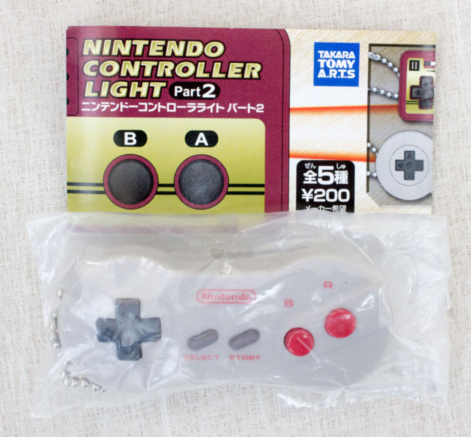 Nintendo Game Controller LED Light Figure Key Chain Famicom AV NES JAPAN