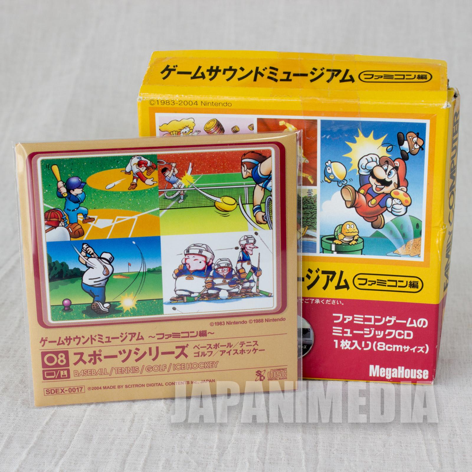 Sports Series Tennis Golf Game Sound Museum Nintendo Music 8cm CD JAPAN FAMICOM