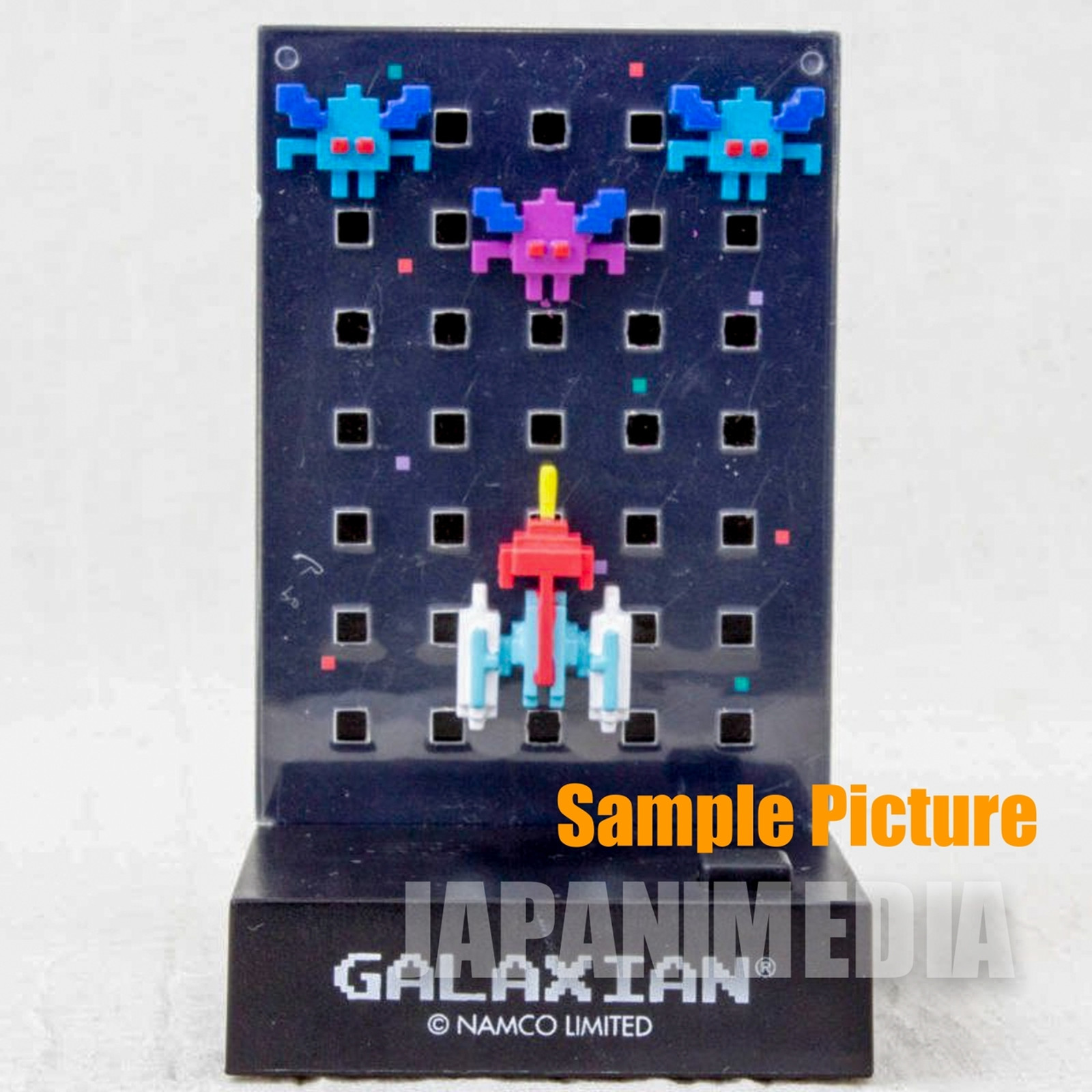 RARE! Namco Dotgraphics Galaxian Figure with Game Sound JAPAN FAMICOM