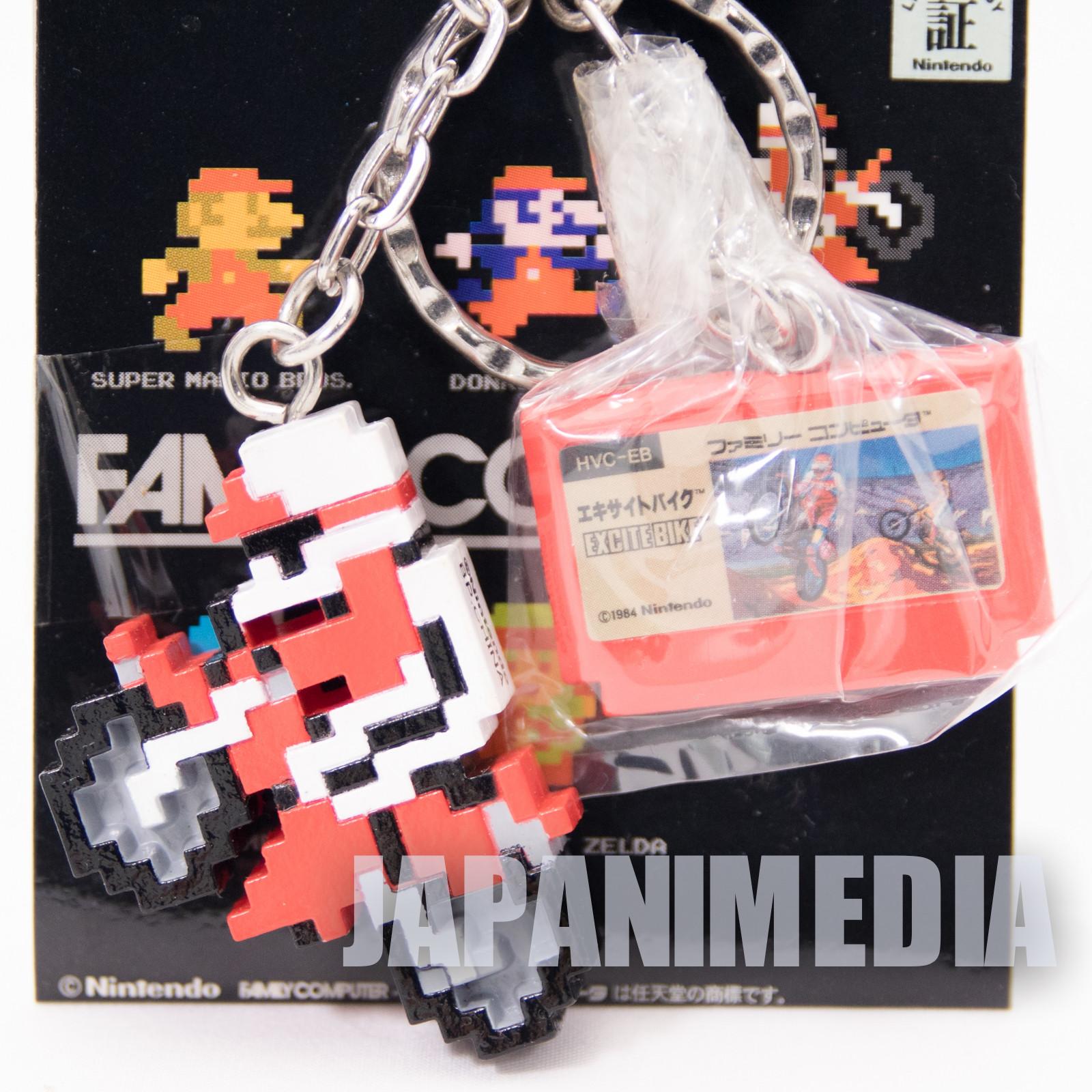 EXCITE BIKE Twin Keyholder Chain Figure Famicom NES NINTENDO JAPAN