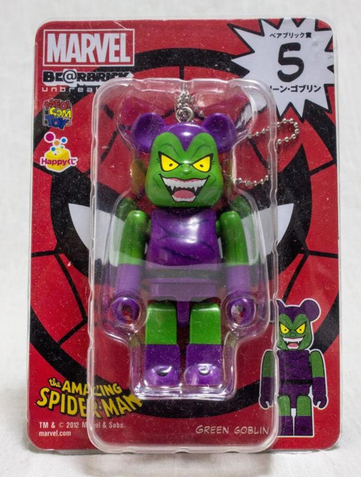 Bearbrick Amazing Spiderman Green Goblin Marvel Medicom Toy JAPAN BE@RBRICK