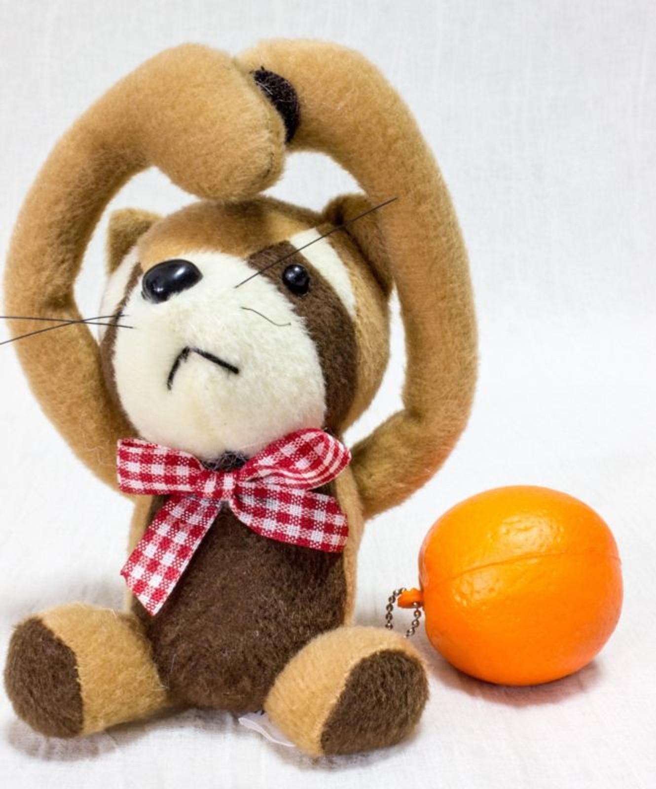 Raccoon Mascot Buzzer Plush Doll Figure JAPAN
