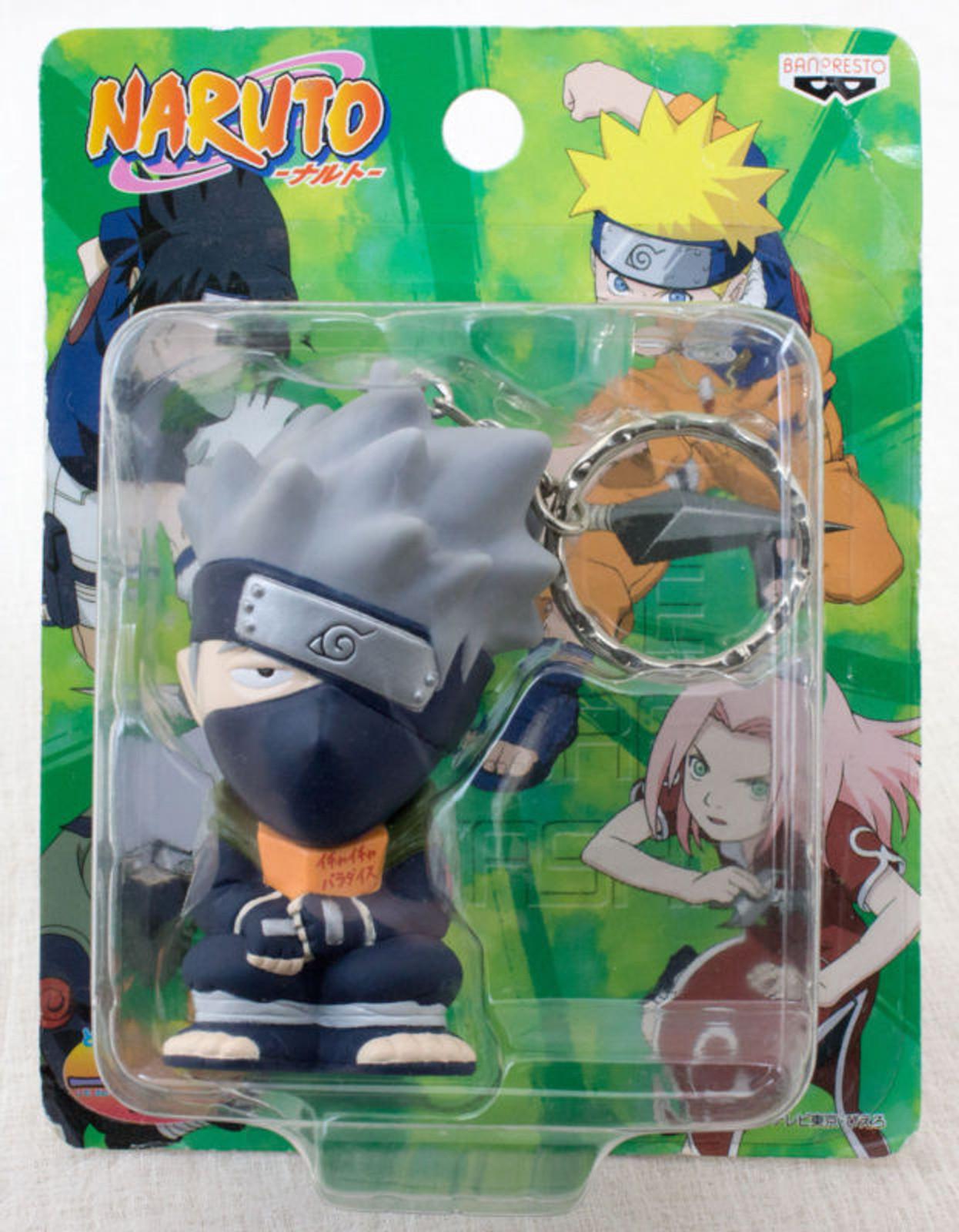 RARE NARUTO Kakashi Hatake Mascot FIgure Key Chain Holder JAPAN ANIME