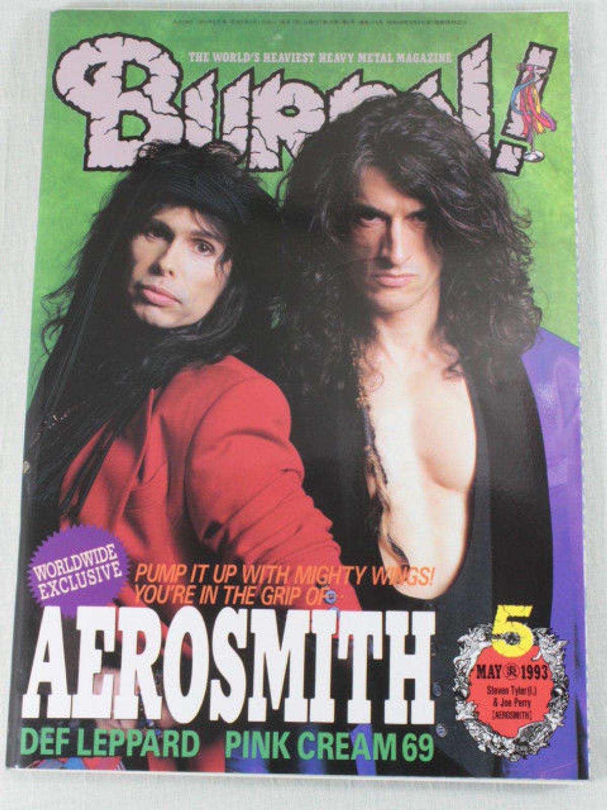 1993/05 BURRN! Japan Rock Magazine AEROSMITH/DEF LEPPARD/BON JOVI/ARCADE