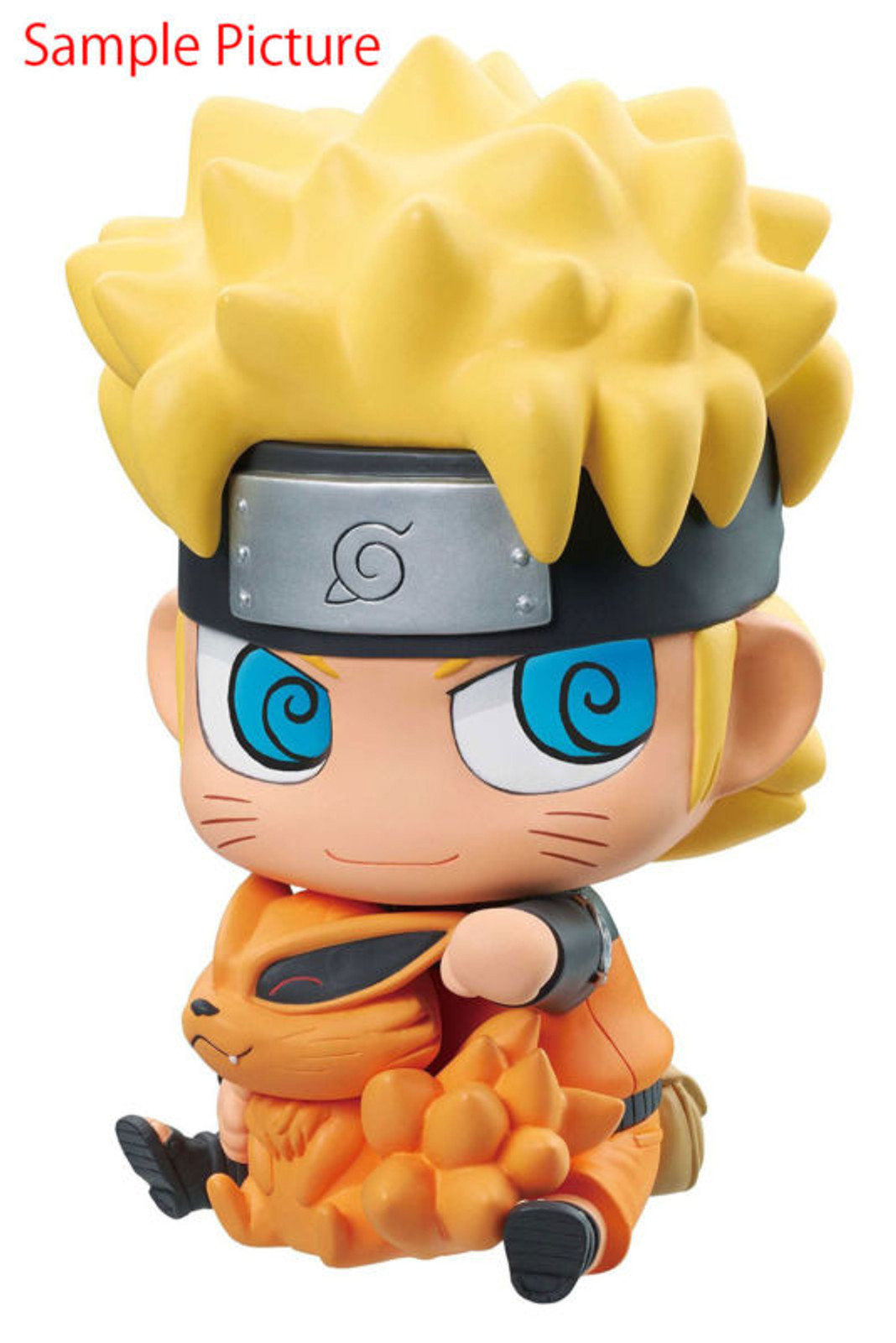 NARUTO Naruto Uzumaki & Nine-Tailed Demon Fox Kurama Chimi Mega Soft Vinyl Series Figure Megahouse JAPAN ANIME MANGA