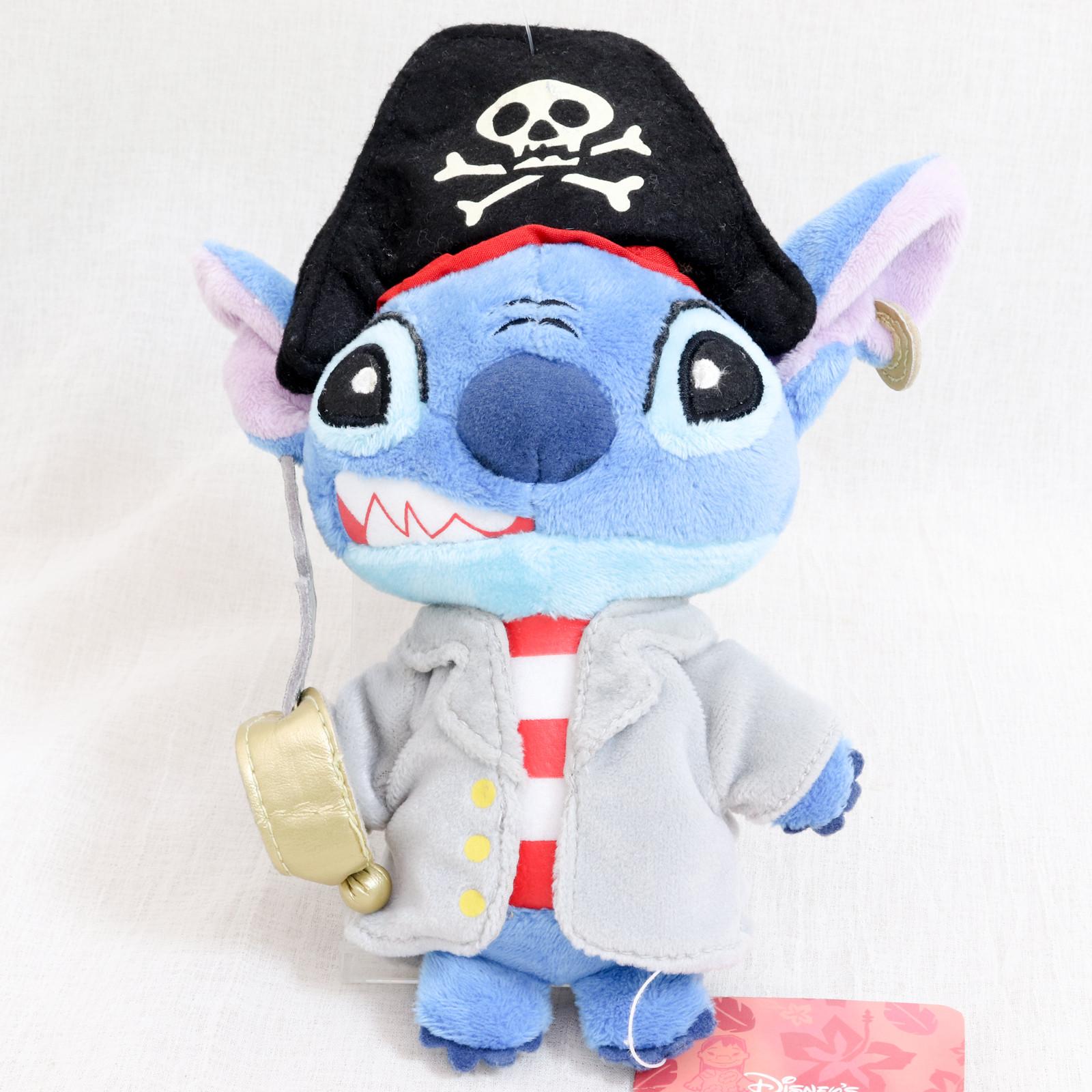 Disney Stitch 7 inch Plush doll Pirate Mascot Figure Young Epoch JAPAN