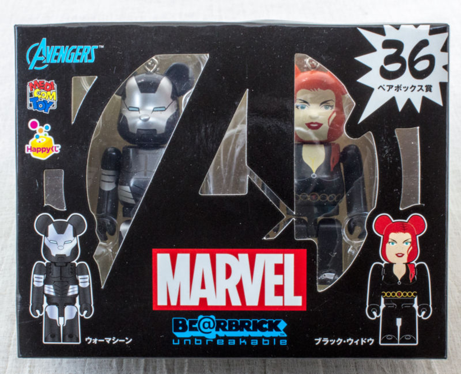 MARVEL Avengers War Machine Black Widow Be@rbrick Figure Medicom JAPAN