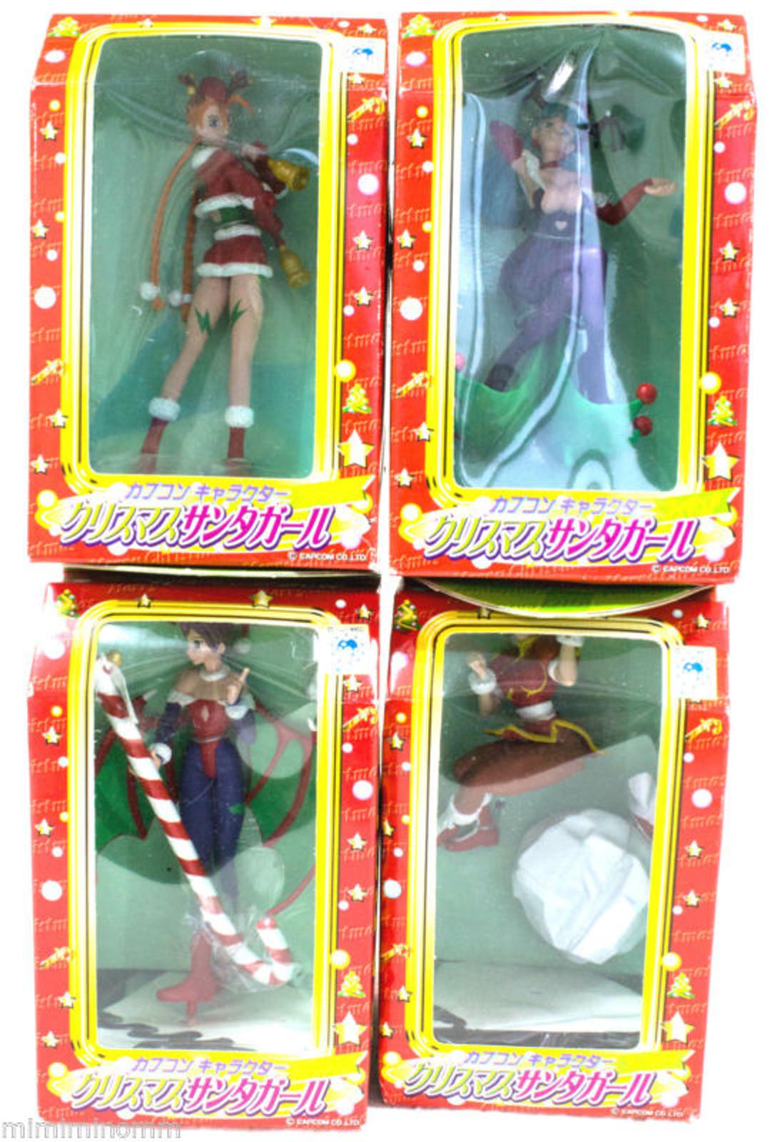 [Set of 4] Street Fighter & Darkstalkers Capcom Christmas Santa Copsplay Figure [Chun-Li / Cammy / Morrigan / Lilith] JAPAN GAME