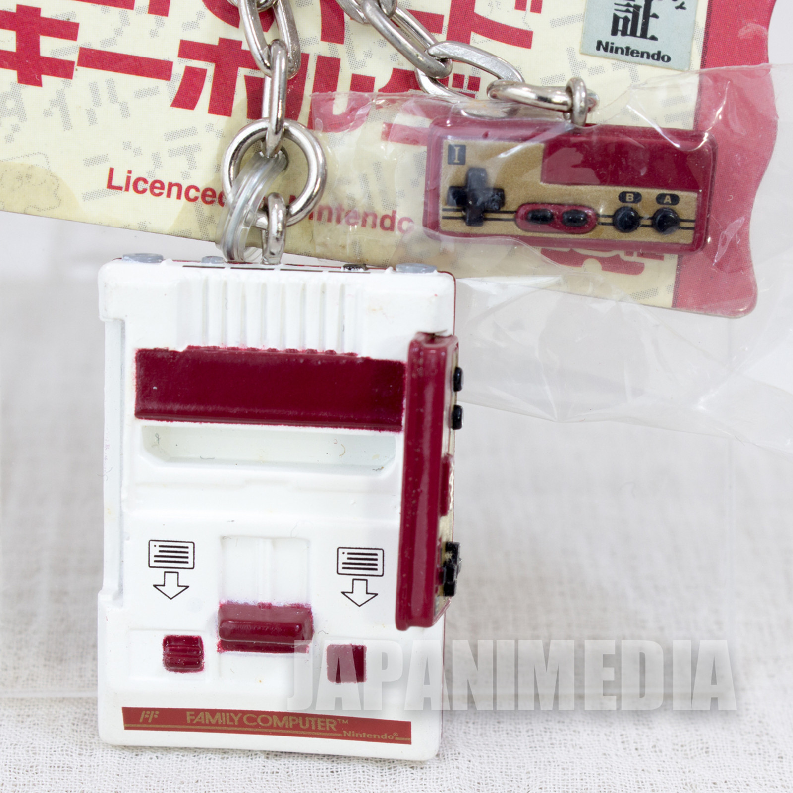 Nintendo Game Console History Miniature Figure Key Chain Famicom NES JAPAN