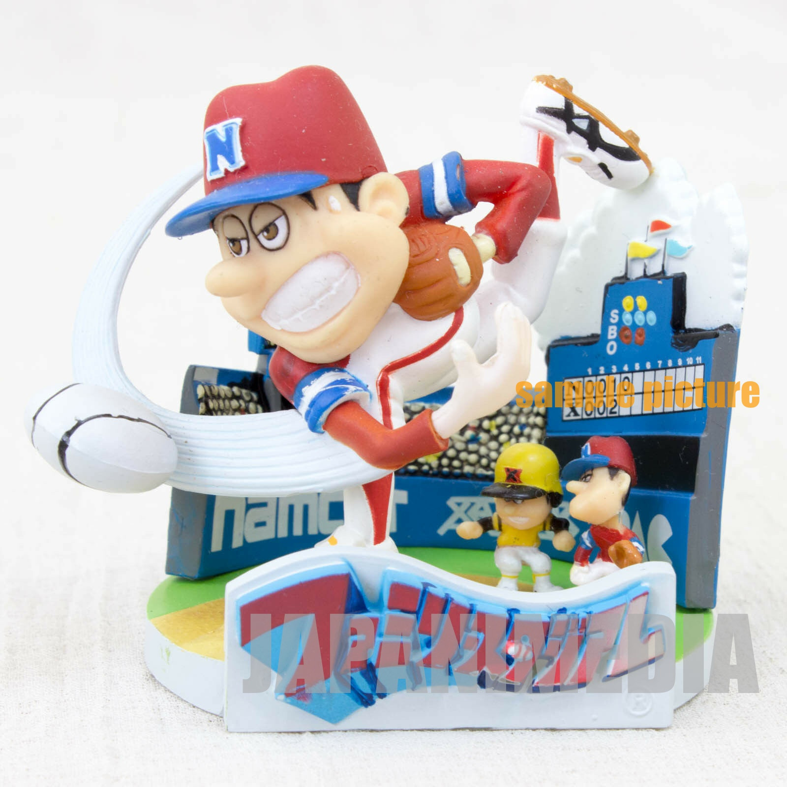 RARE! Namcole Family Stadium Package type Mini Figure Namco JAPAN NES FAMICOM